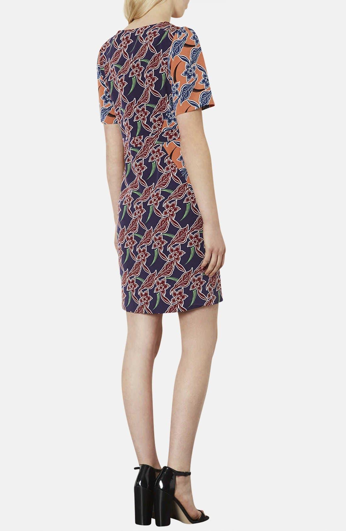 Alternate Image 2  - Topshop 'Cocktail Mix' Tropical Print Tea Dress