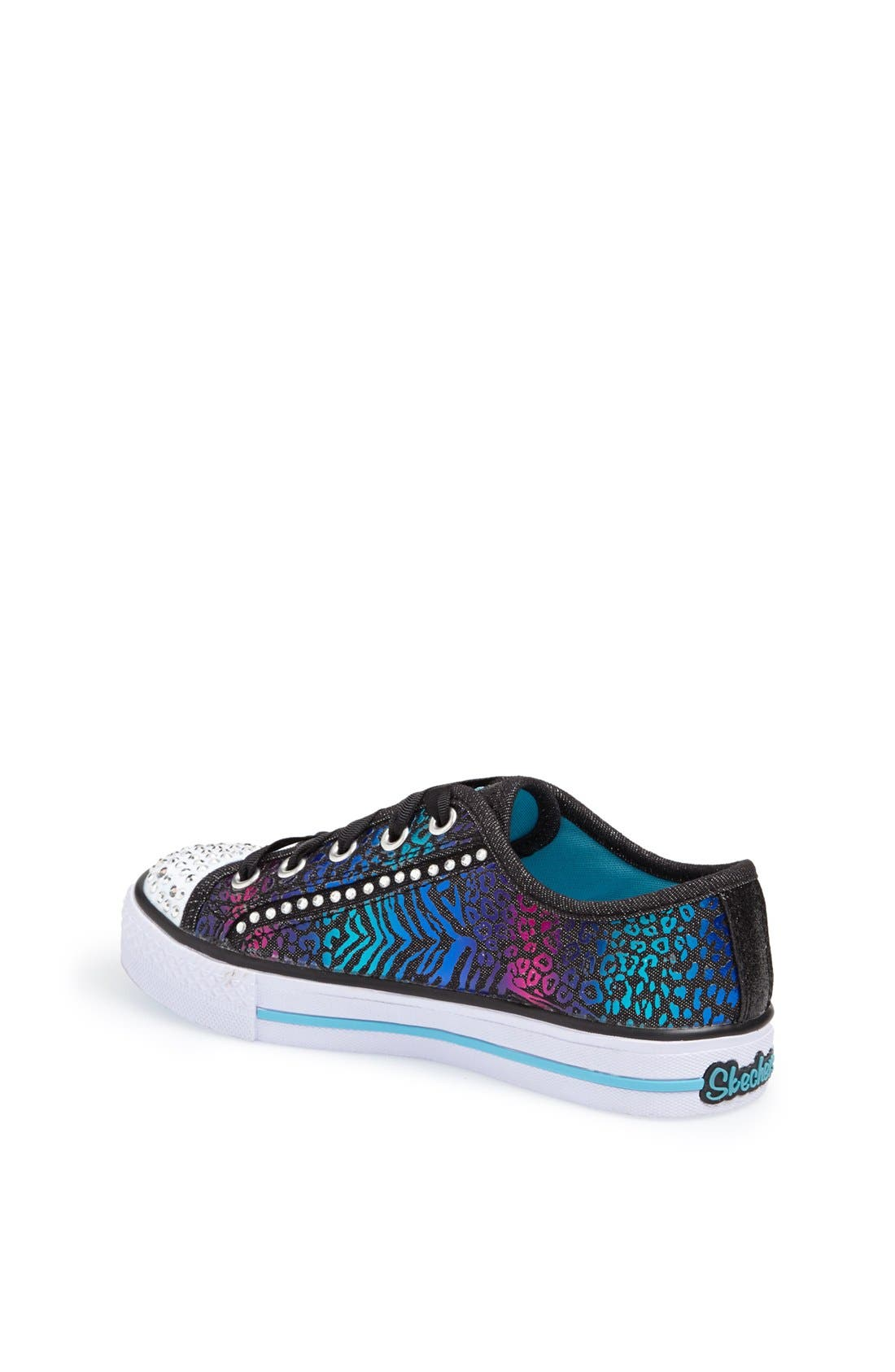 Alternate Image 2  - SKECHERS 'Shuffles - Gimme Glam' Light Up Sneaker (Toddler, Little Kid & Big Kid)