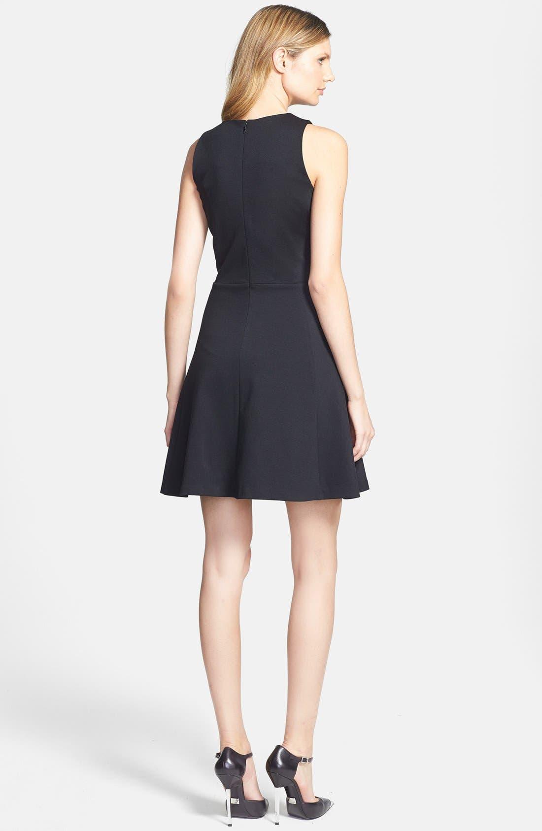 Alternate Image 2  - MICHAEL Michael Kors Zip Front Fit & Flare Dress