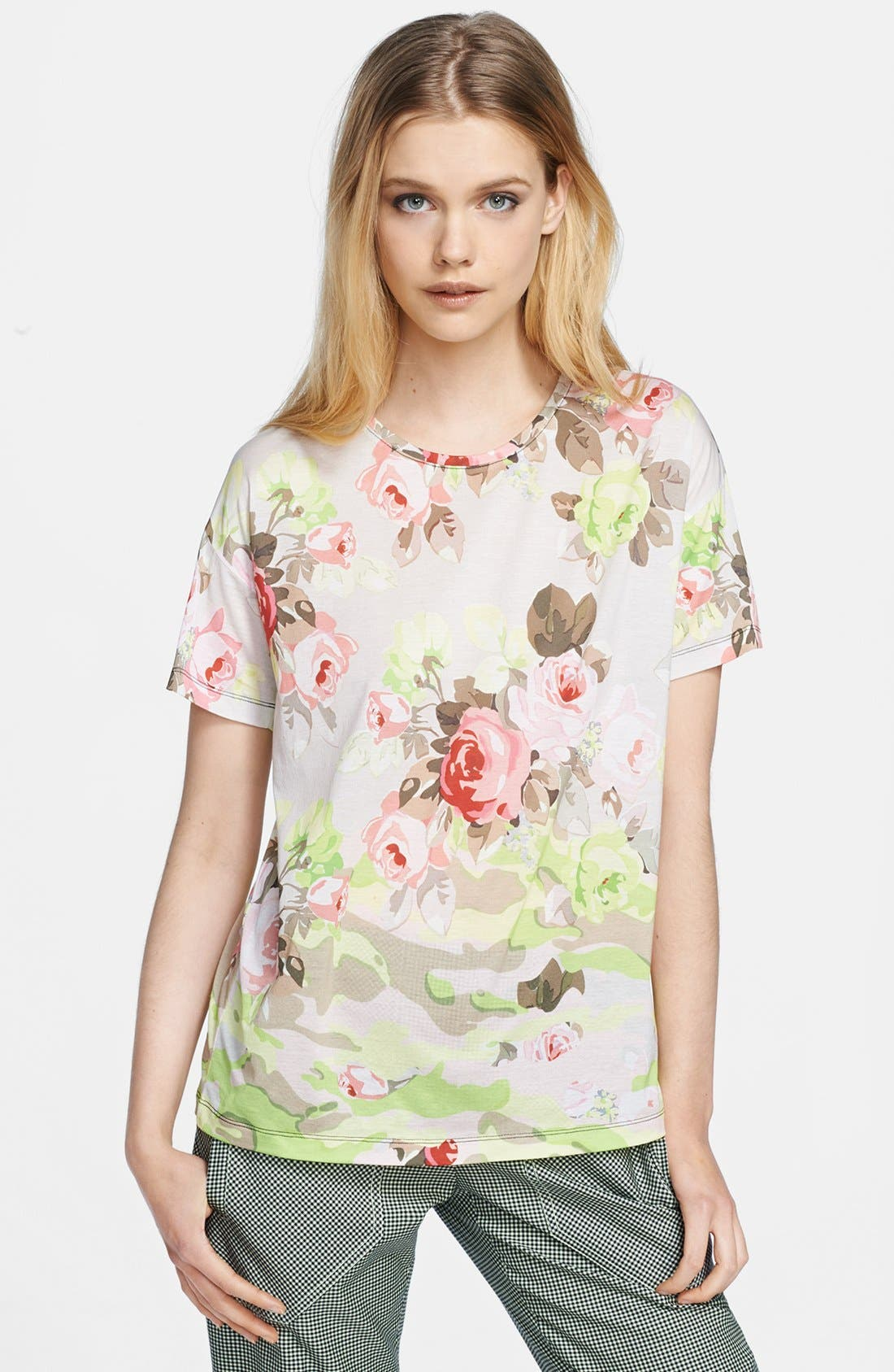 Alternate Image 1 Selected - Carven Print Jersey Tee