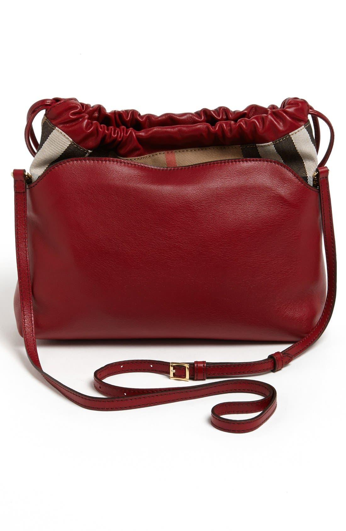 Alternate Image 4  - Burberry 'Little Crush - House Check' Leather Crossbody Bag