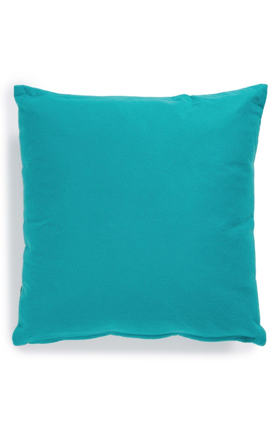 Alternate Image 2  - Mina Victory Floral Appliqué Pillow