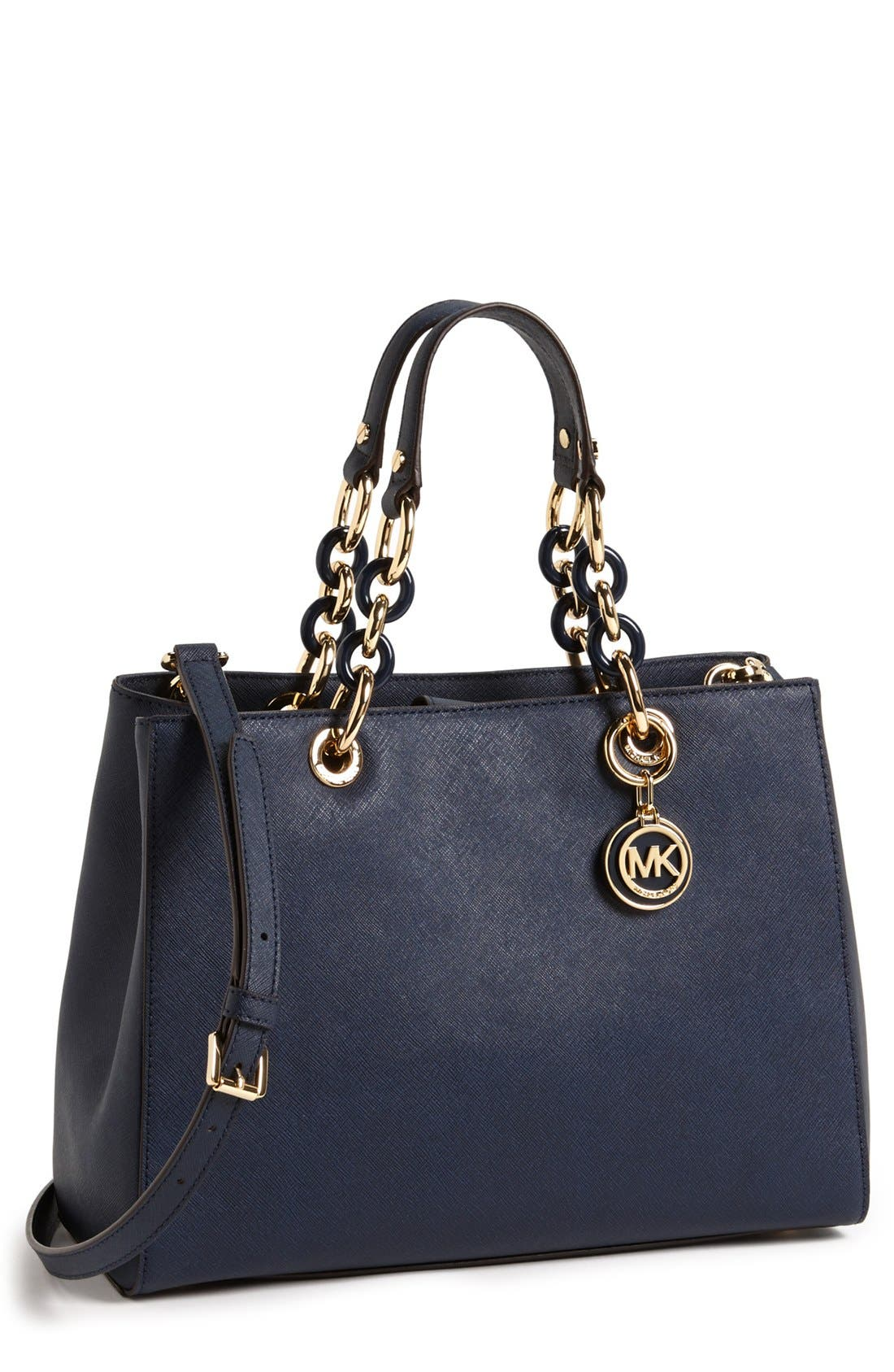 Main Image - MICHAEL Michael Kors 'Cynthia' Saffiano Leather Satchel