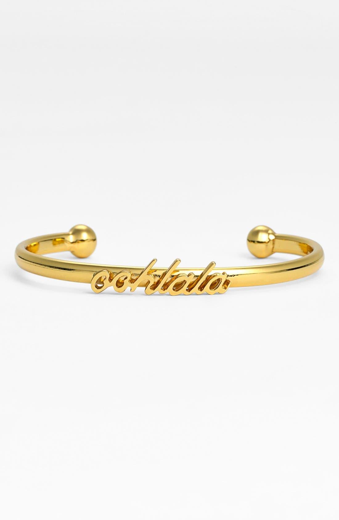 Main Image - kate spade new york 'ooh la la' script cuff bracelet