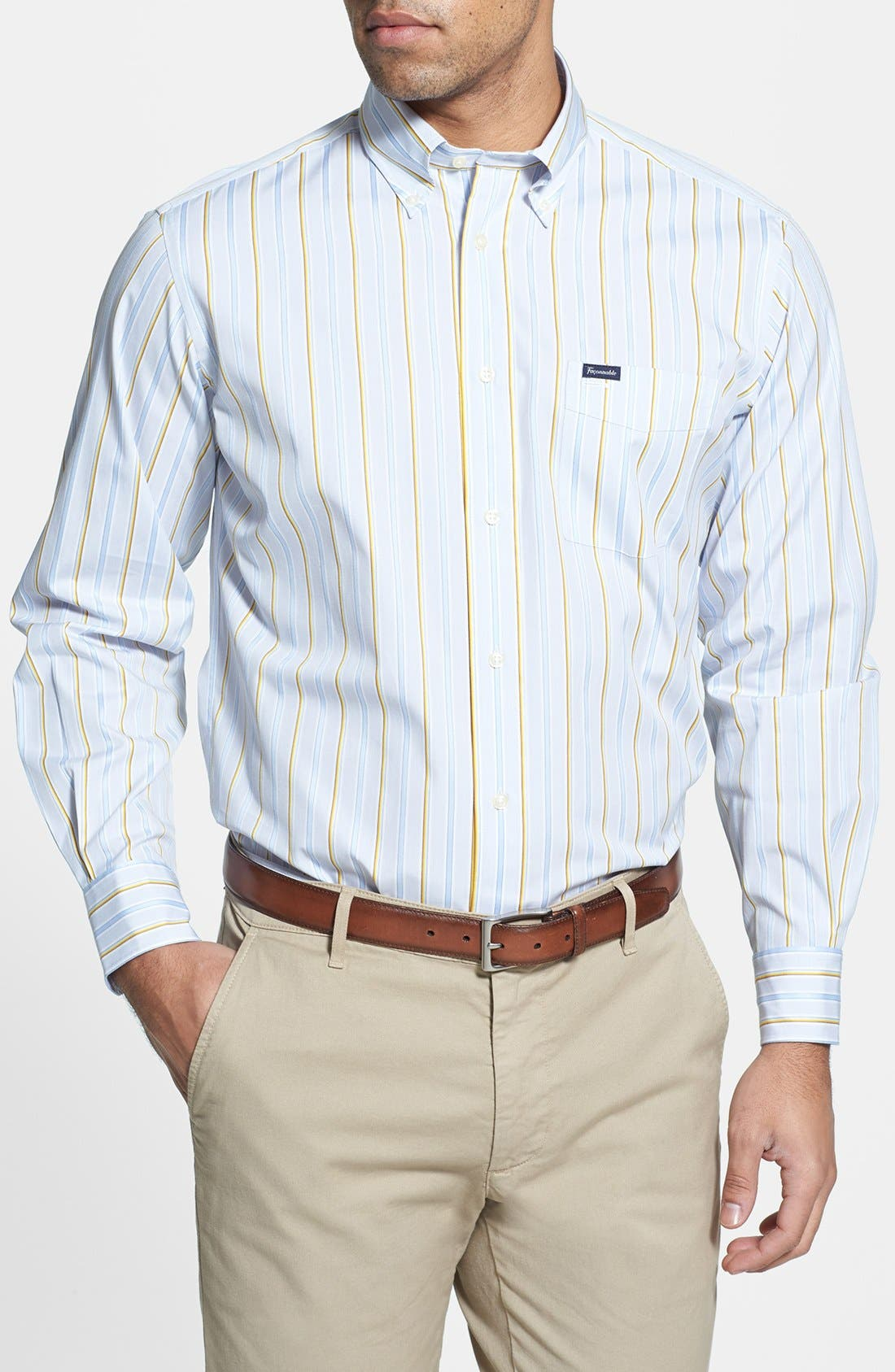 Alternate Image 1 Selected - Façonnable Classique Fit Stripe Sport Shirt