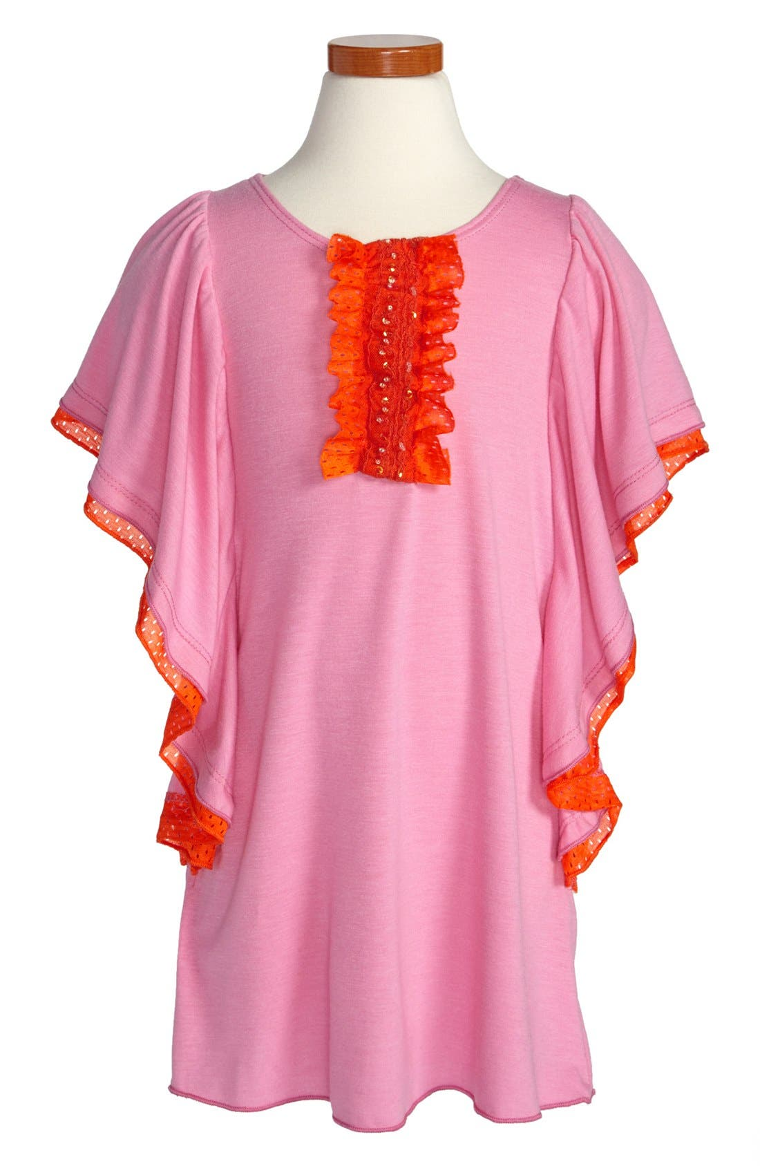 Main Image - Twirls & Twigs Flutter Sleeve Dress (Toddler Girls)