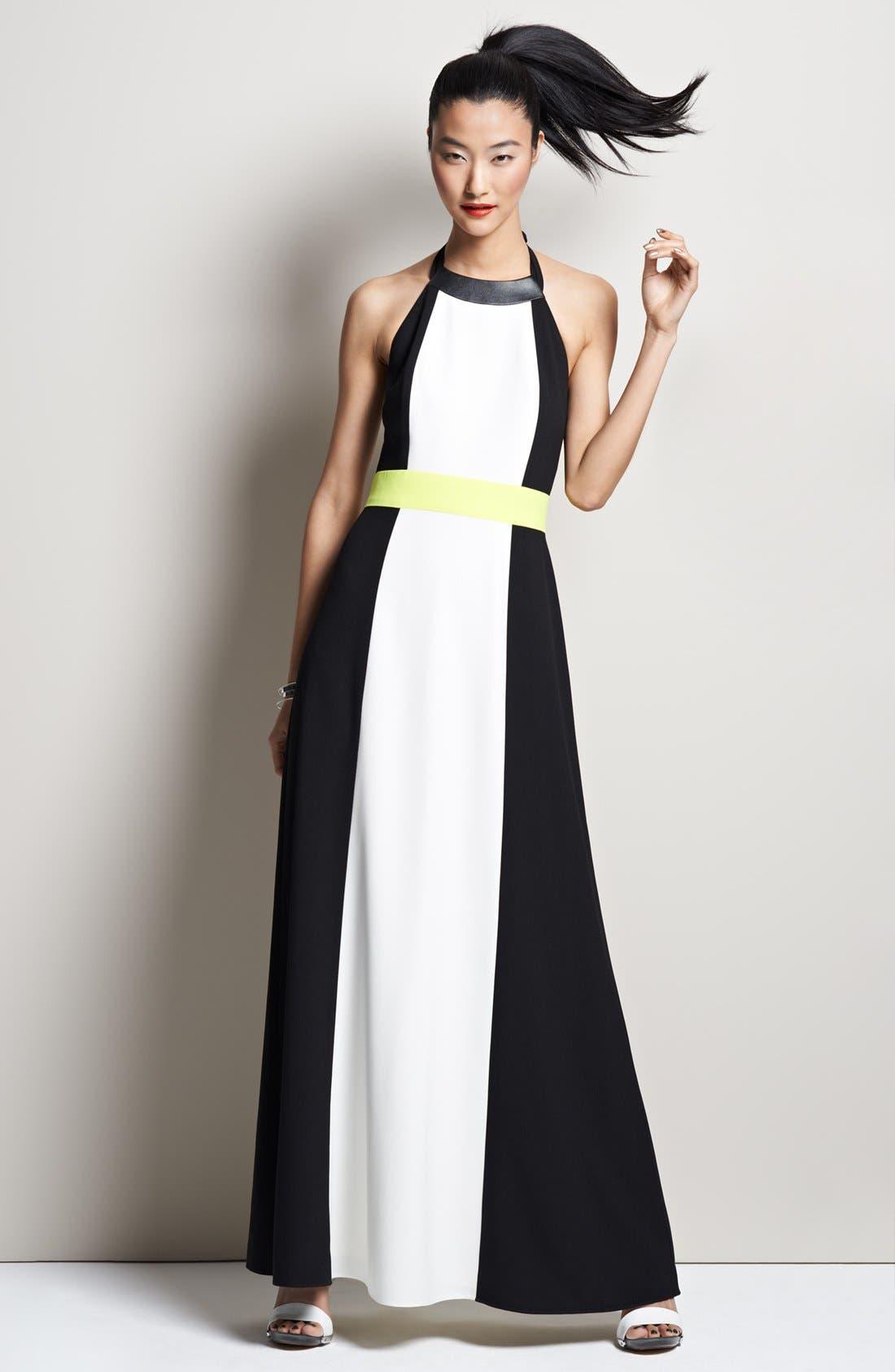 Alternate Image 6  - Vince Camuto Colorblock Halter Maxi Dress
