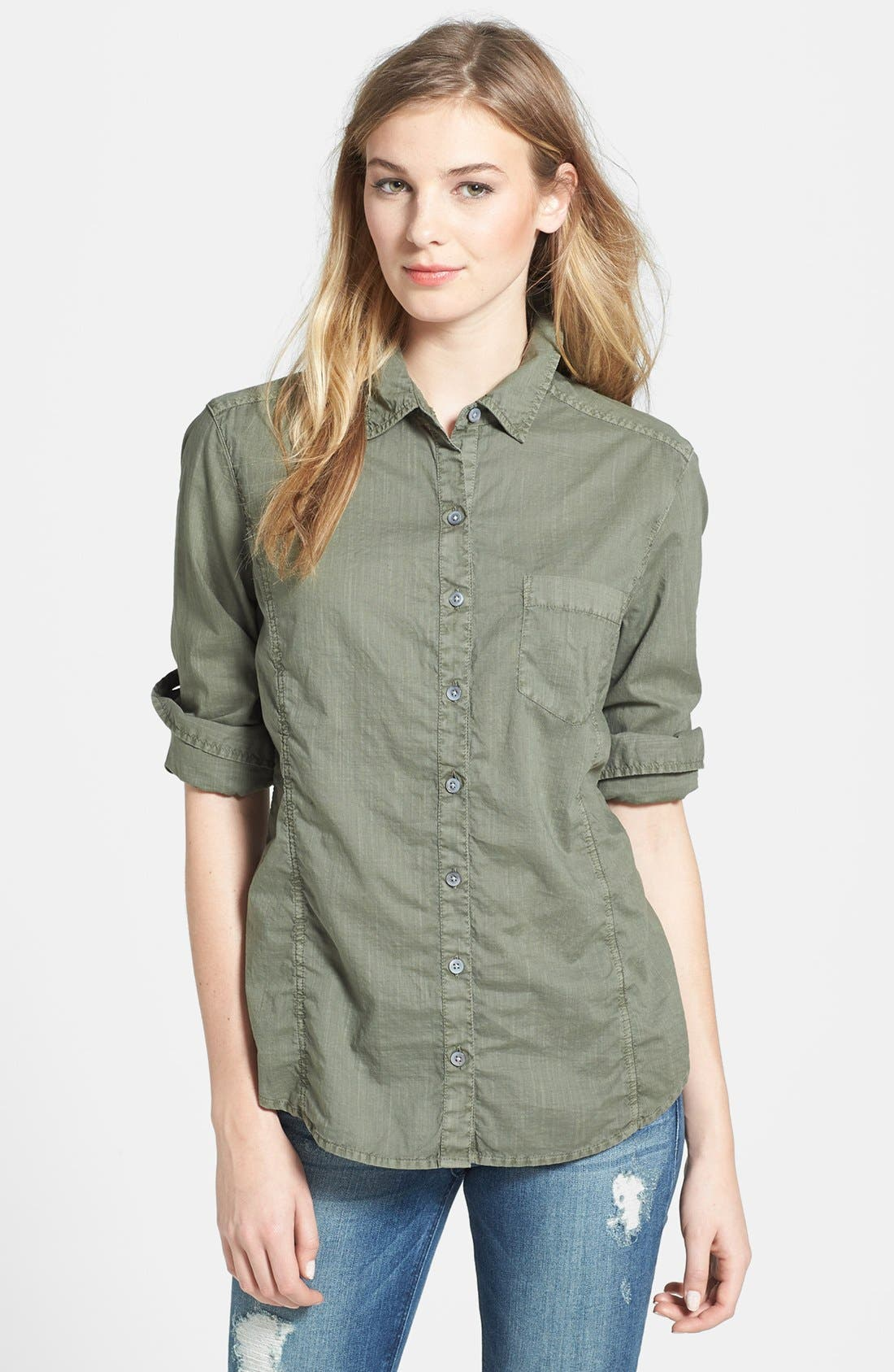 Alternate Image 1 Selected - Caslon® Cotton Blend Blouse