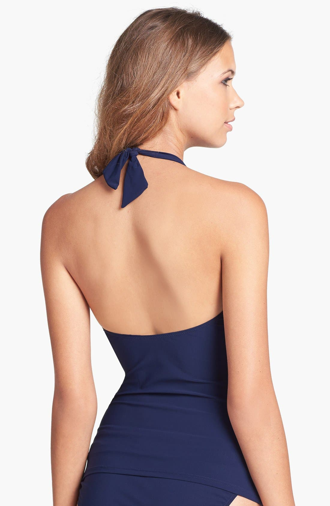 Alternate Image 2  - Profile by Gottex 'Midnight Ocean' Halter Tankini Top