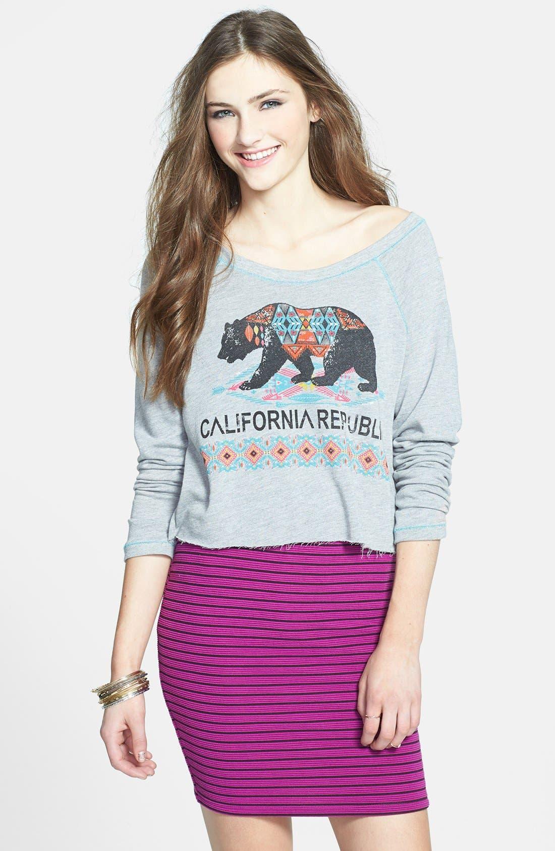 Main Image - Project Social T 'CA Bear' Sweatshirt (Juniors)