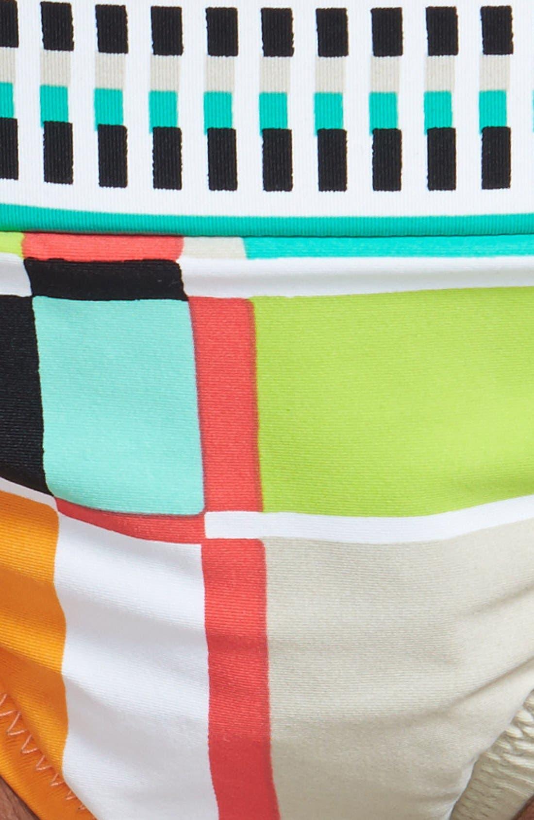 Alternate Image 5  - Trina Turk Colorblock Plaid Side Tie Hipster Bikini Bottoms