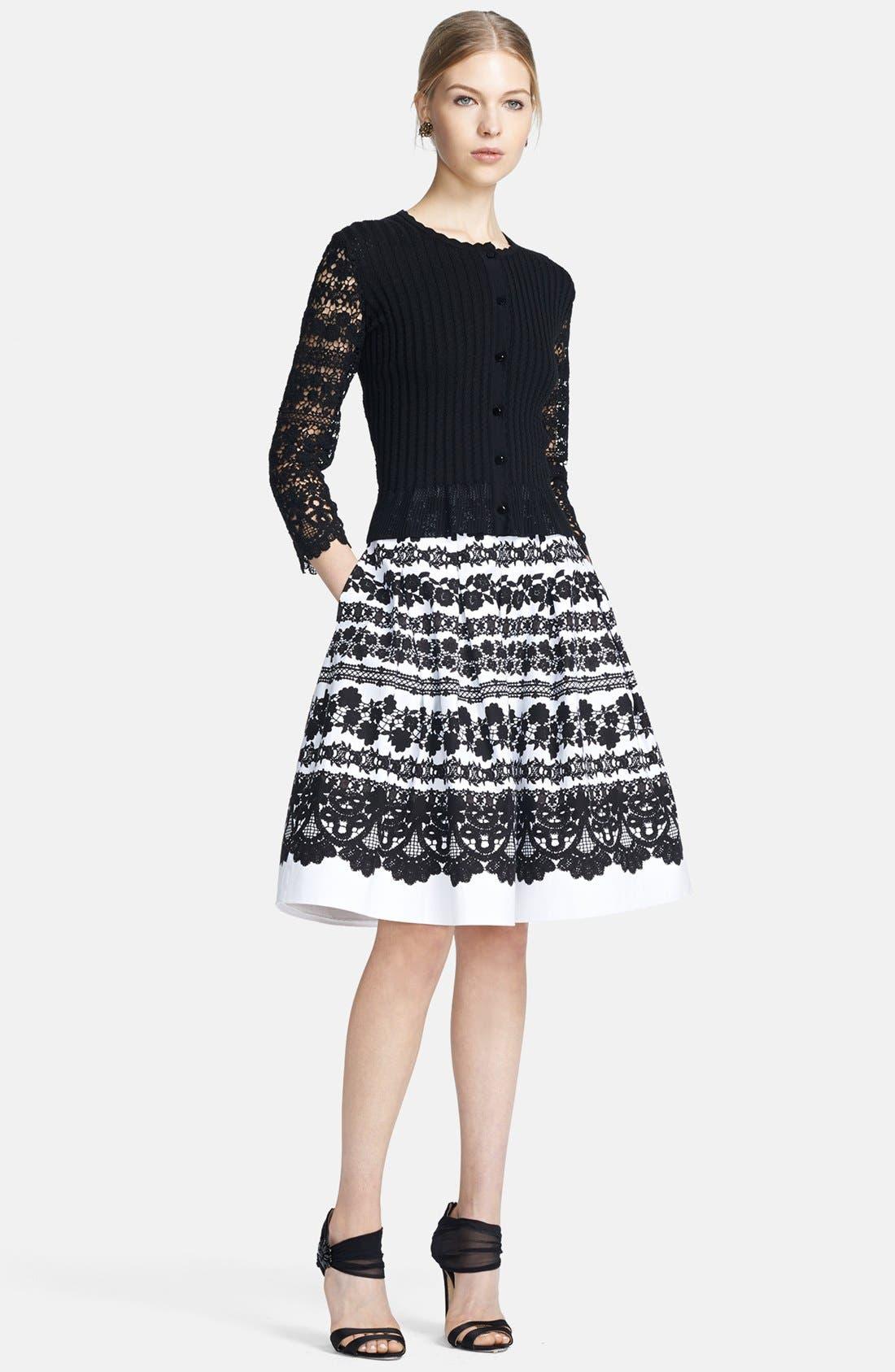 Alternate Image 3  - Oscar de la Renta Lace Print Full Skirt