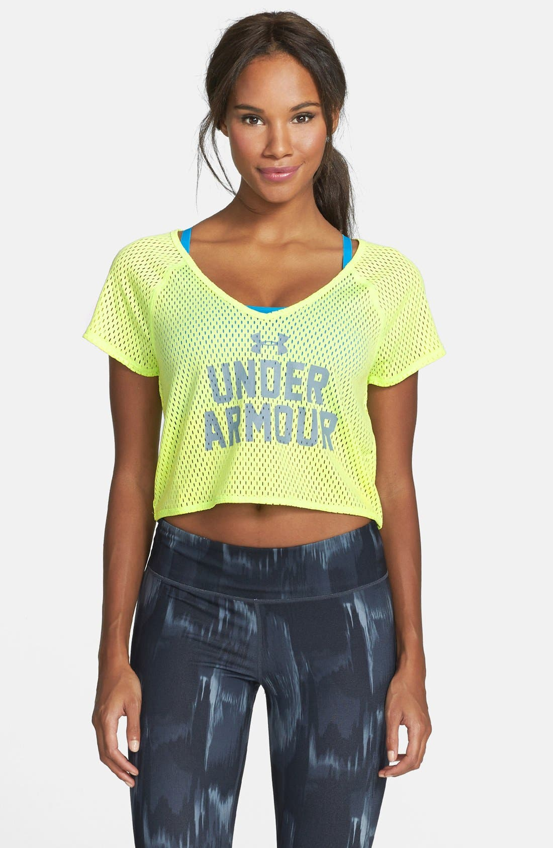 Alternate Image 1 Selected - Under Armour 'Bolo' Mesh Crop Tee