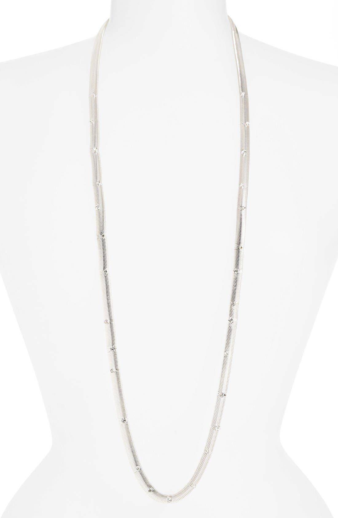 Alternate Image 1 Selected - Anne Klein Long Link Necklace