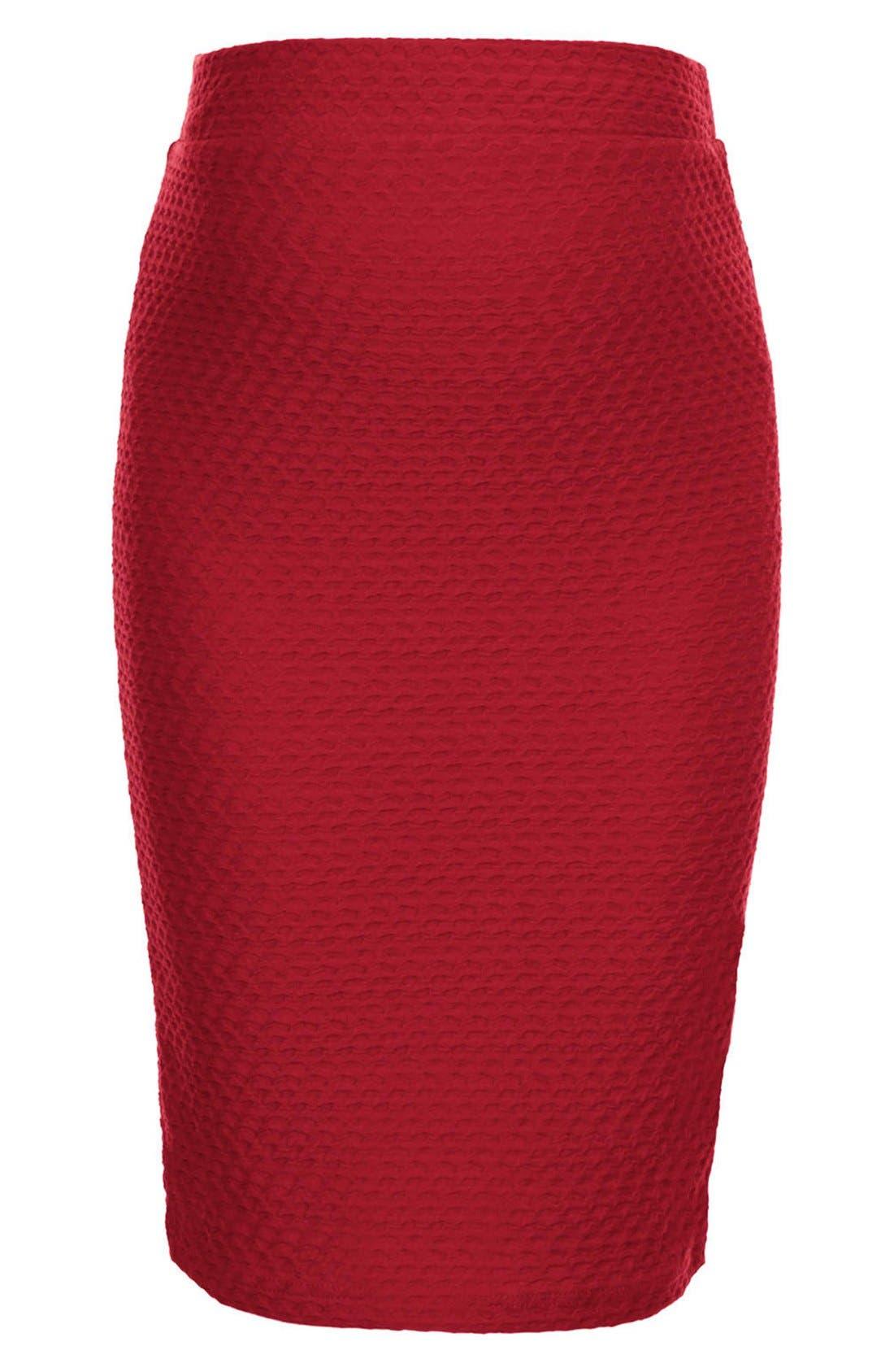 Alternate Image 3  - Topshop Chevron Texture Maternity Tube Skirt