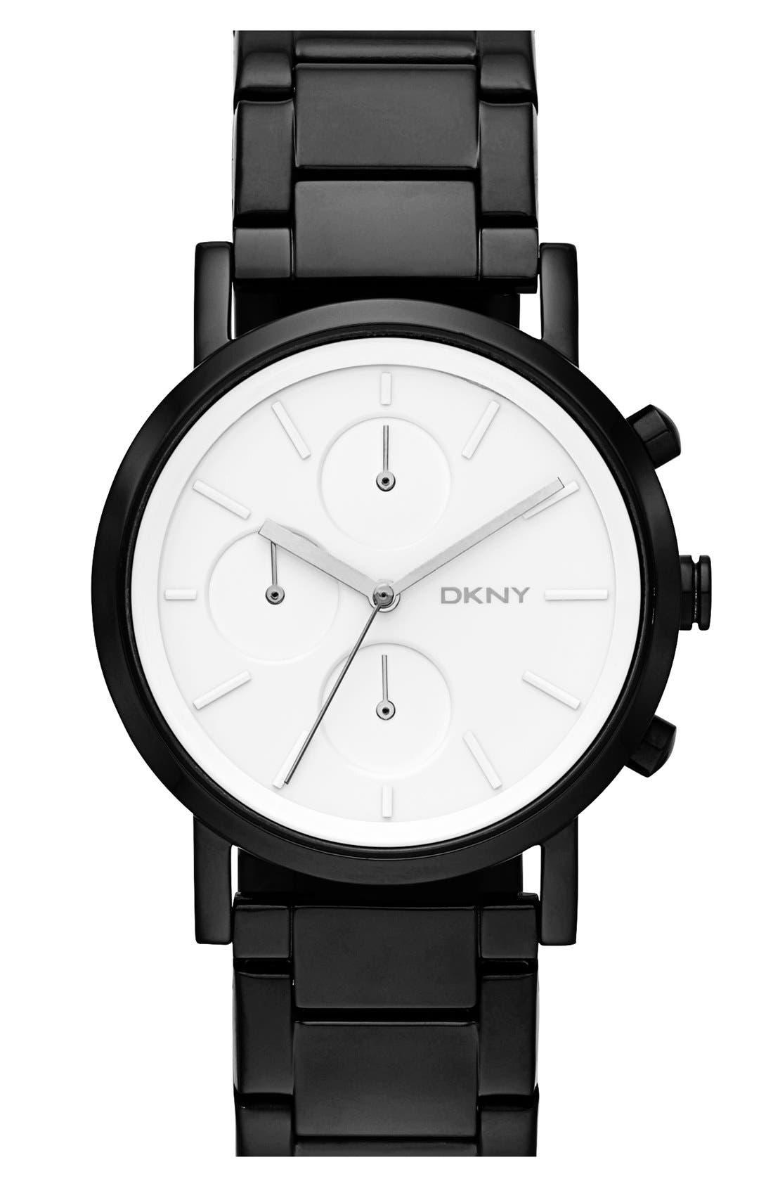 Main Image - DKNY 'Soho' Chronograph Bracelet Watch, 38mm