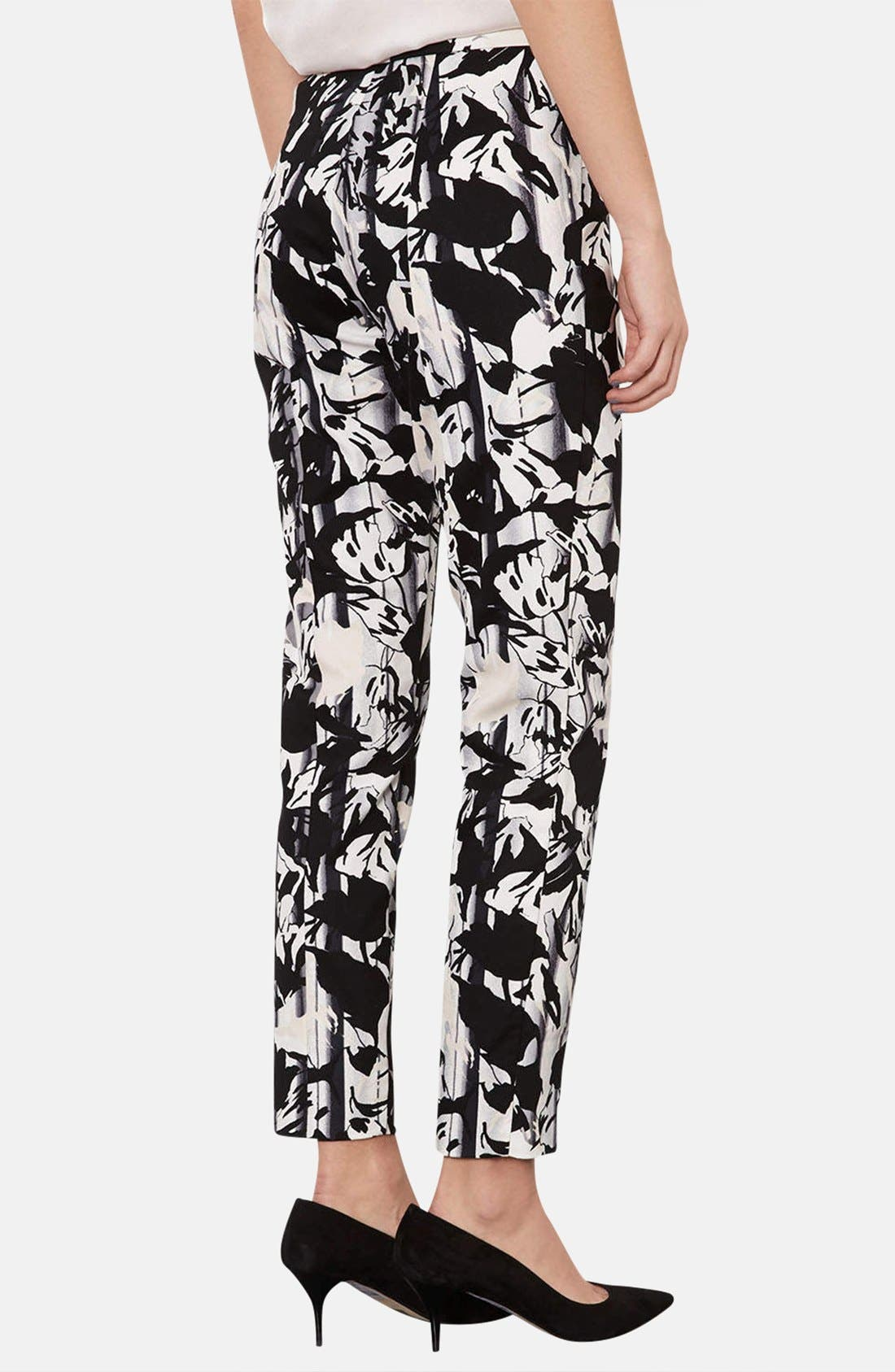 Alternate Image 2  - Topshop Floral Print Cigarette Pants