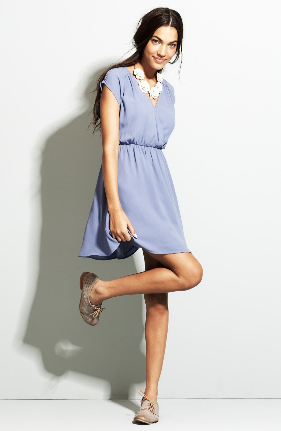 Alternate Image 3  - Lush 'Katie' Surplice Chiffon Skater Dress