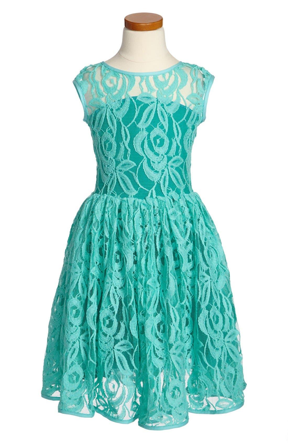 Main Image - Fiveloaves Twofish Lace Dress (Little Girls & Big Girls)