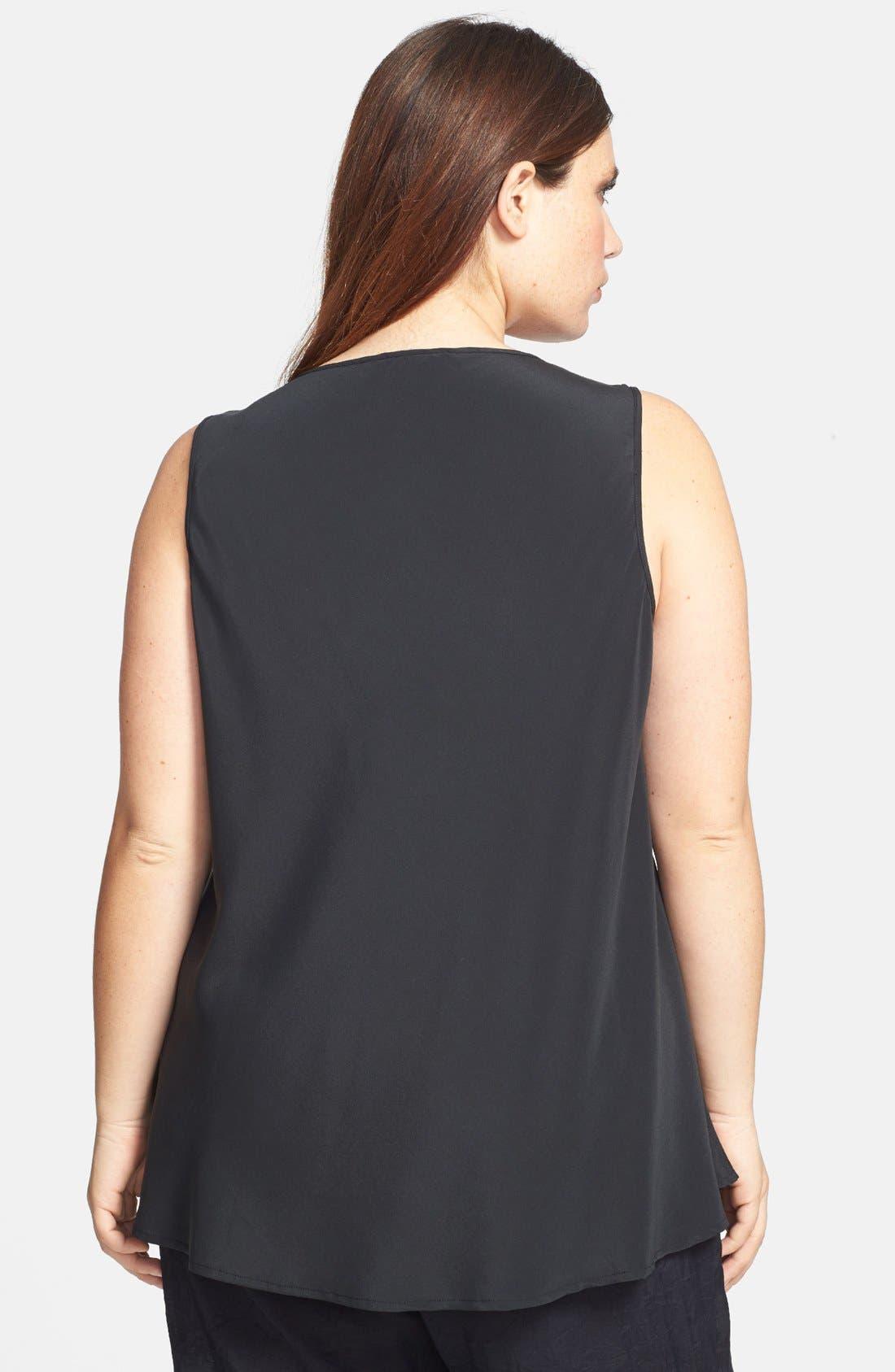 Alternate Image 2  - Citron Silk Blend Tank Top (Plus Size)