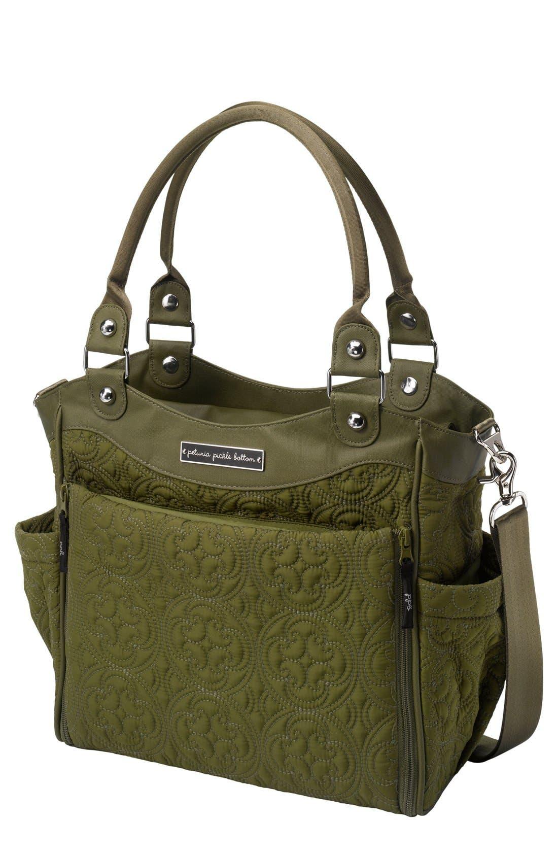 Alternate Image 1 Selected - Petunia Pickle Bottom 'City Carryall' Embossed Diaper Bag