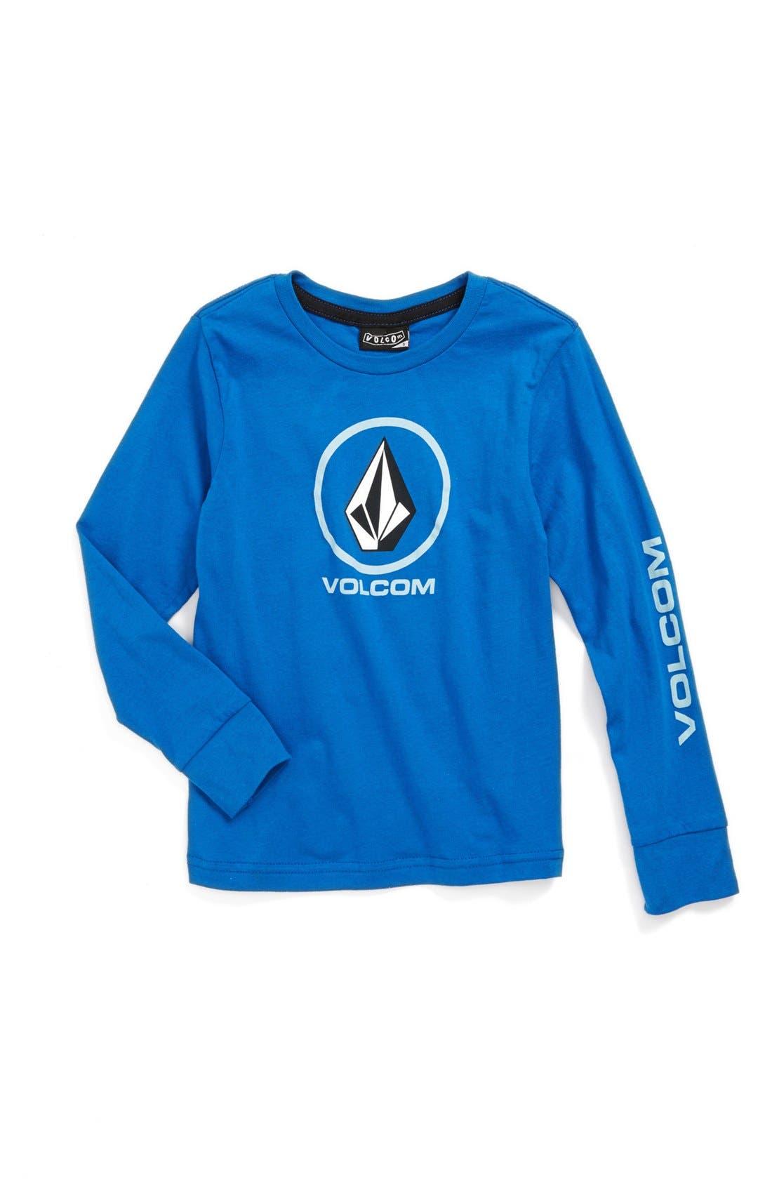Alternate Image 1 Selected - Volcom 'Circle Staple' Long Sleeve T-Shirt (Big Boys)
