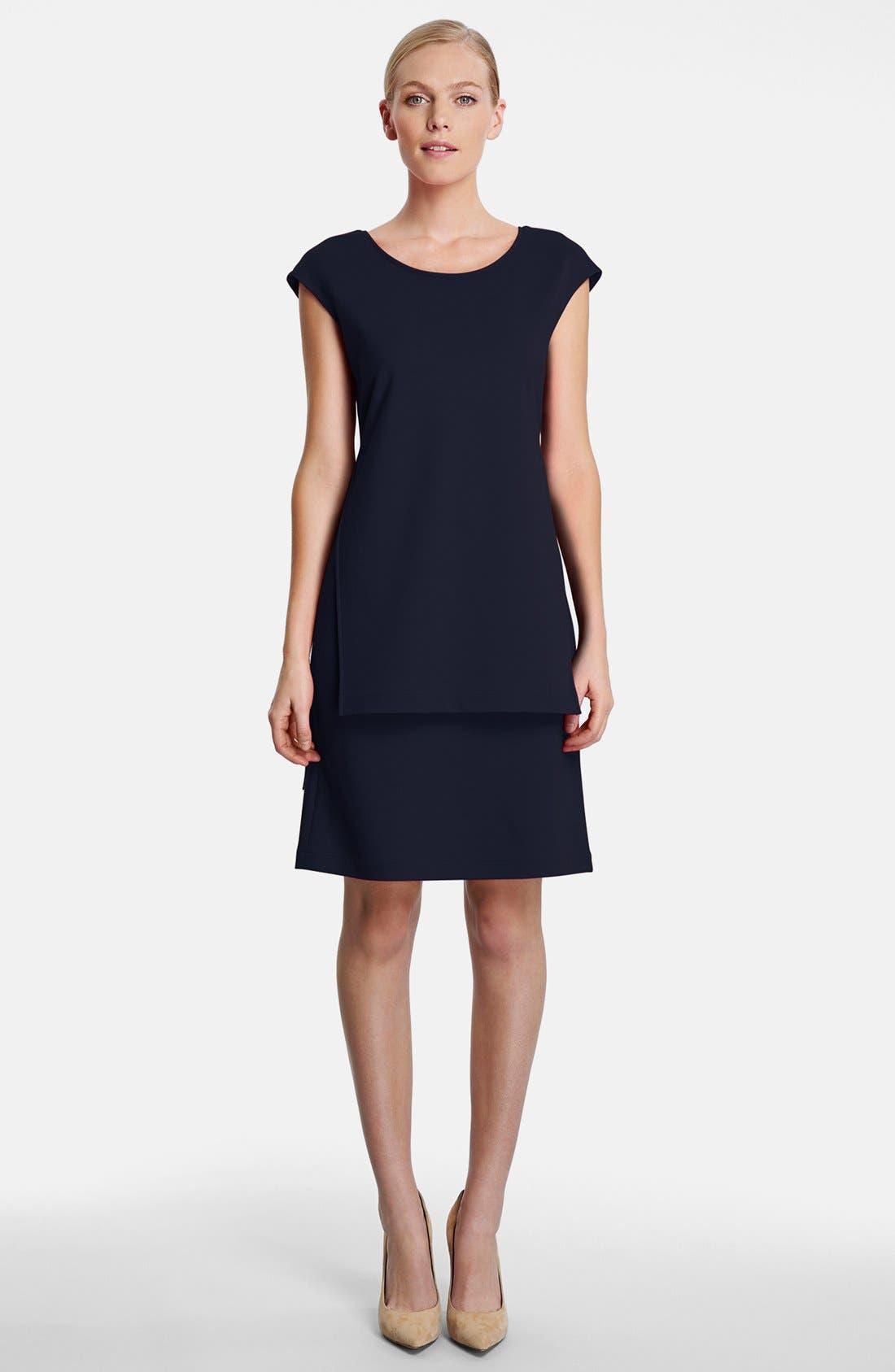 Alternate Image 4  - Lafayette 148 New York  Layered Punto Milano Dress