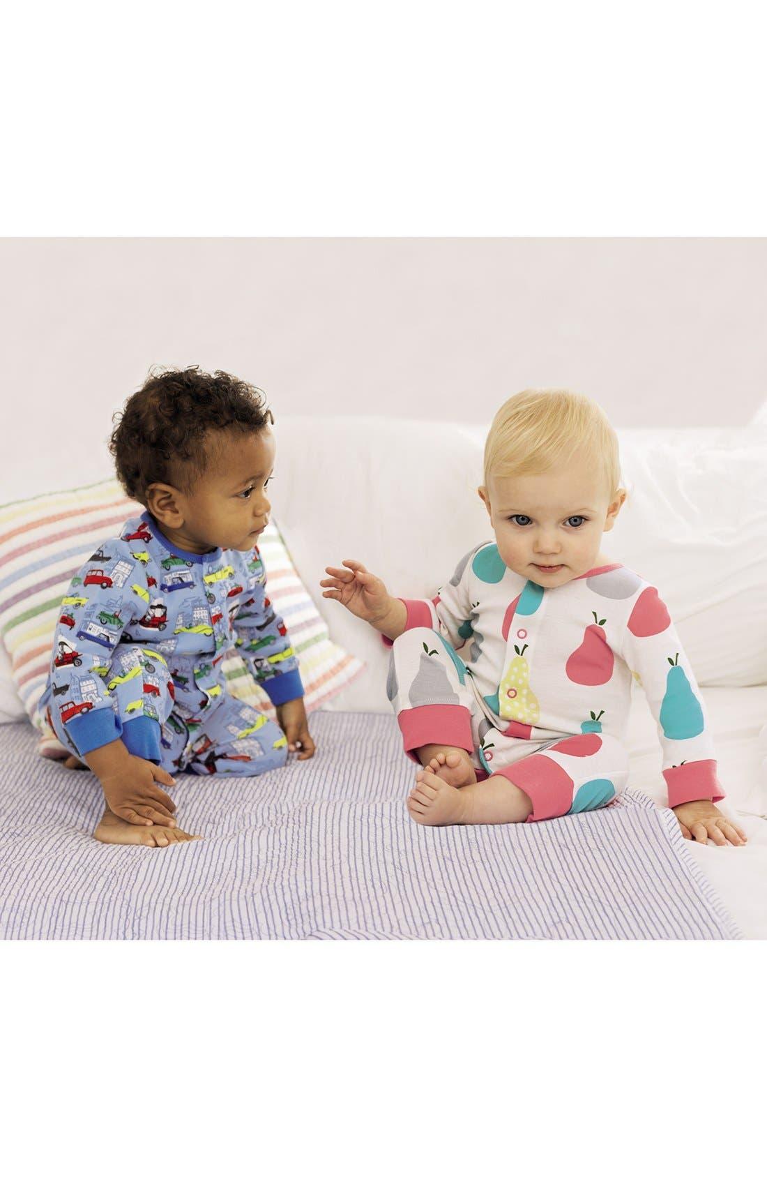 Alternate Image 2  - Mini Boden Print Romper (2-Pack) (Baby Girls)
