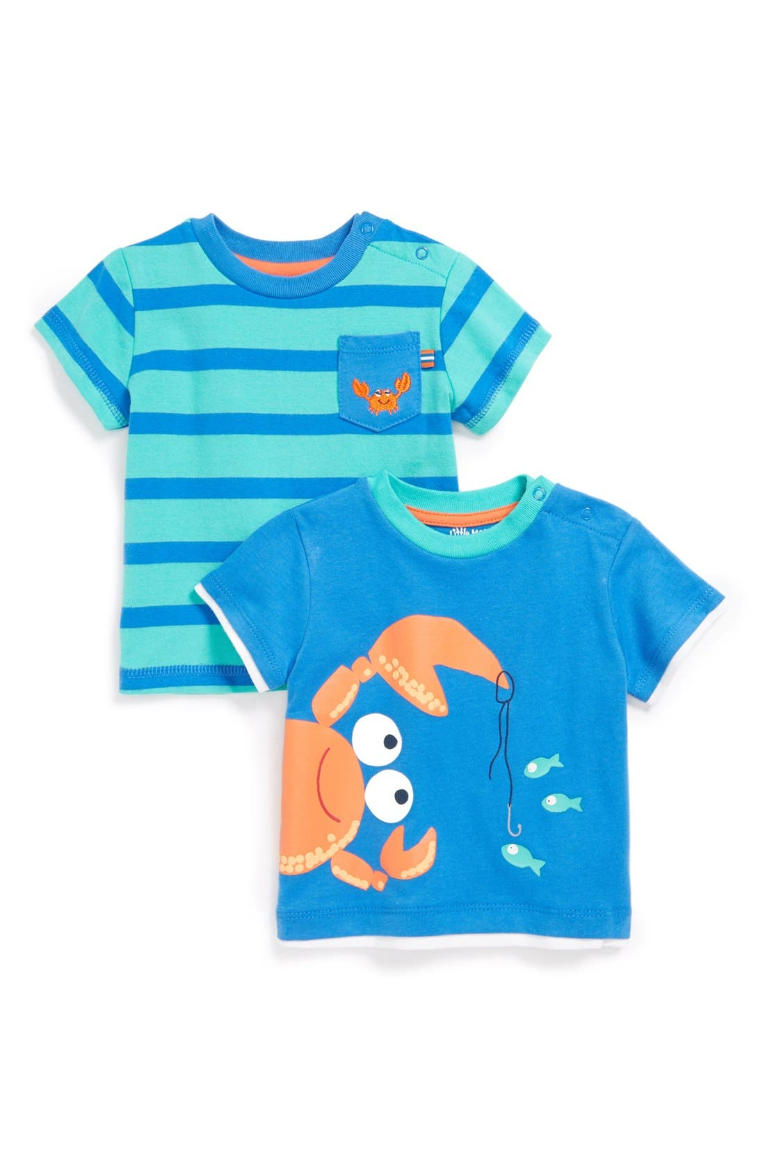 Alternate Image 1 Selected - Little Me Crab T-Shirts (Set of 2) (Baby Boys)