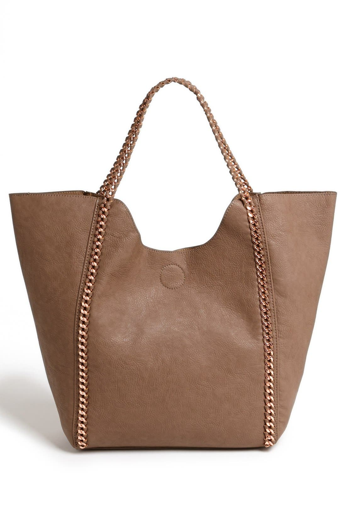 Alternate Image 4  - Street Level Faux Leather Tote