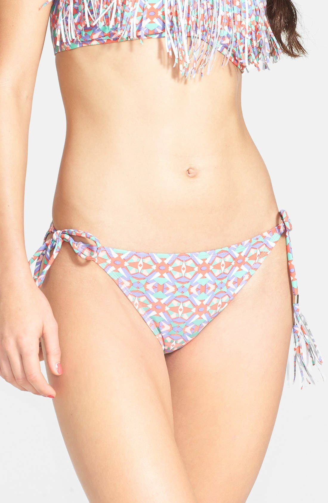 Main Image - BP. Undercover Tassel String Bikini Bottoms (Juniors)