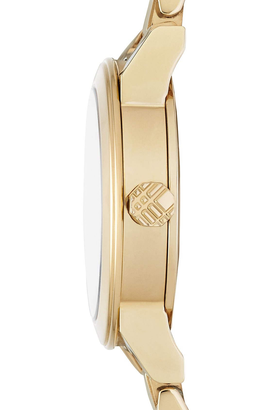 Alternate Image 4  - Burberry Check Stamped Round Bracelet Watch, 26mm