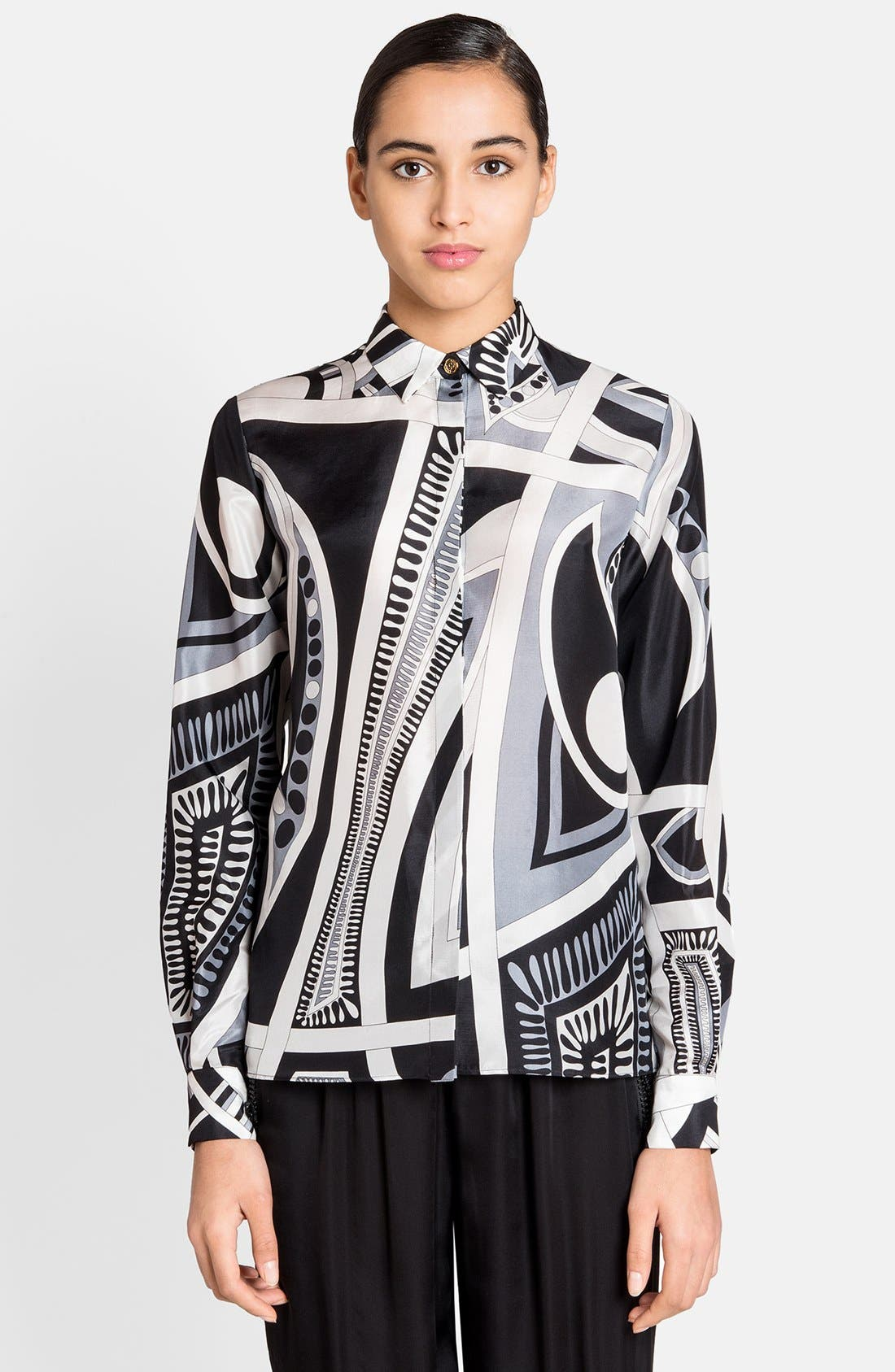 Alternate Image 1 Selected - Emilio Pucci Print Silk Blouse