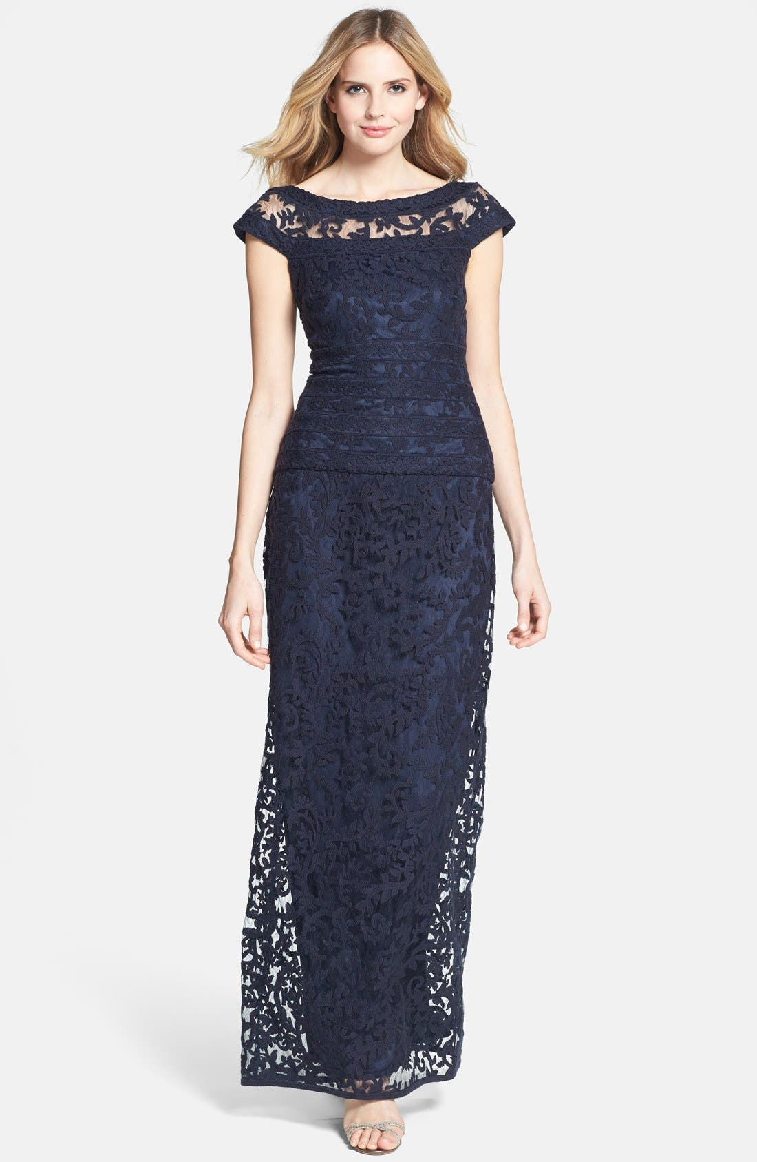 Main Image - Tadashi Shoji Embroidered Lace Gown