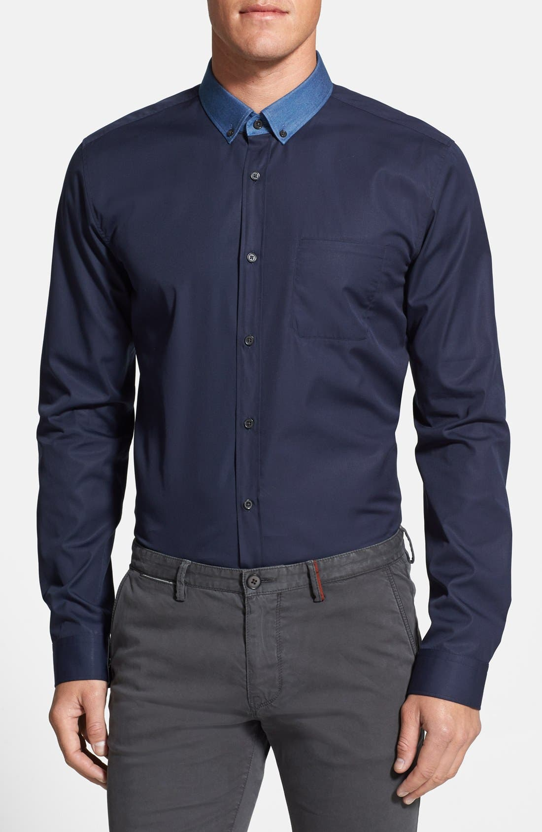 Alternate Image 1 Selected - HUGO 'Enico' Sport Shirt