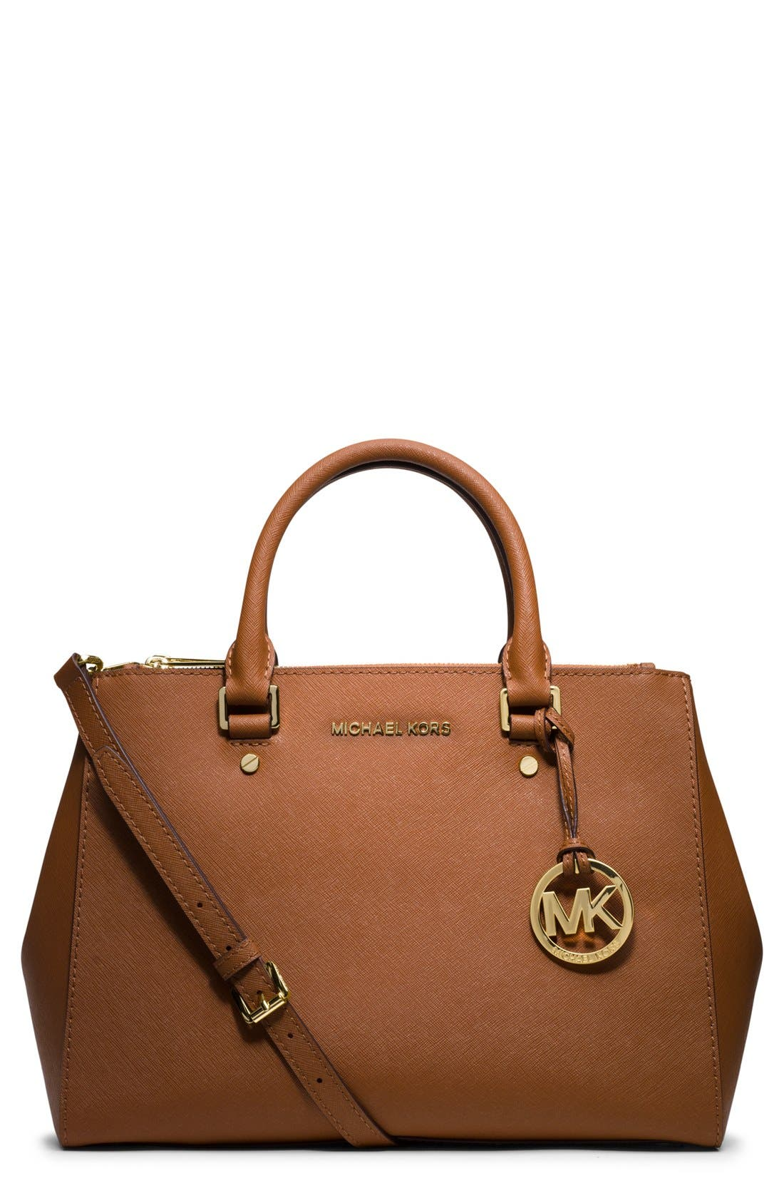 Alternate Image 1 Selected - MICHAEL Michael Kors 'Medium Sutton' Saffiano Leather Tote