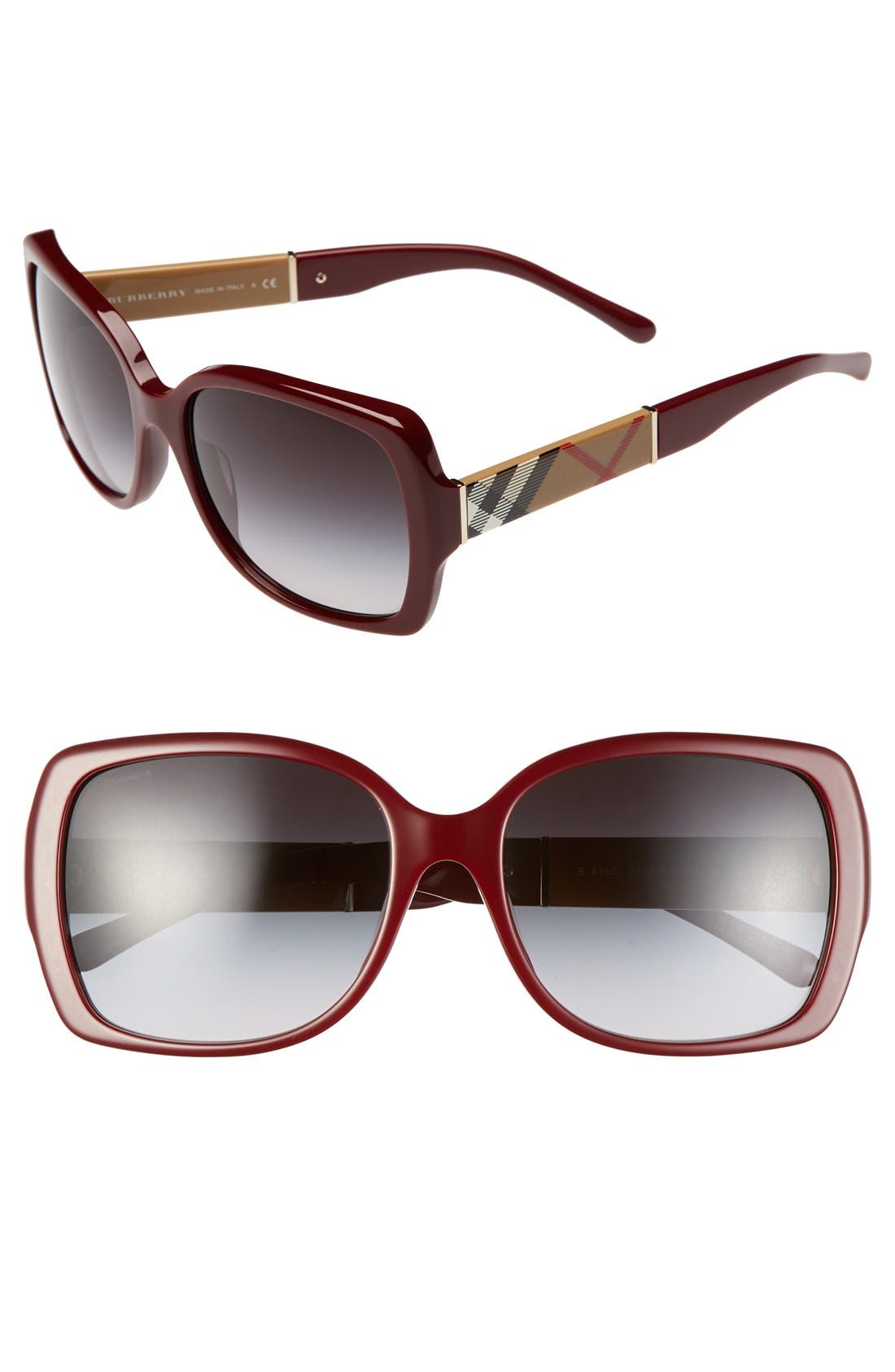 Alternate Image 1 Selected - Burberry 58mm Square Sunglasses