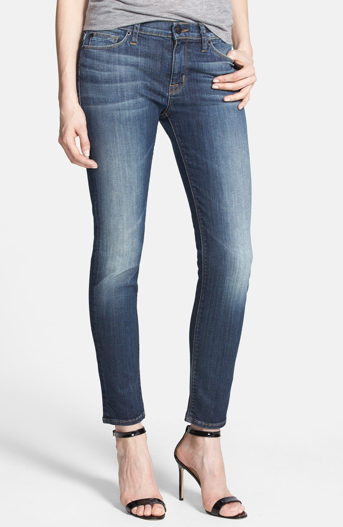 Main Image - Hudson Jeans 'Collette' Skinny Ankle Jeans (Glam)