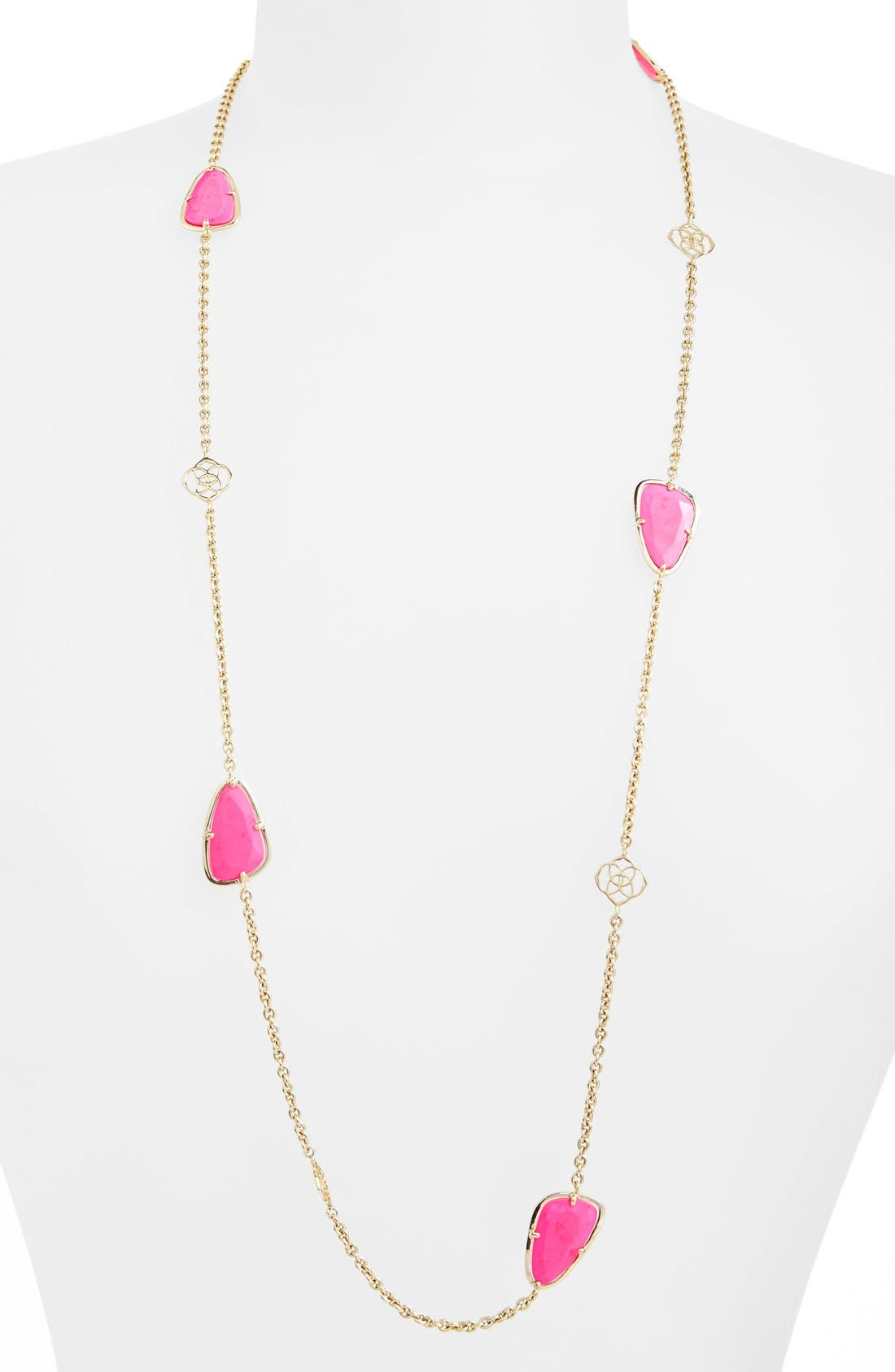 Alternate Image 1 Selected - Kendra Scott 'Kinley' Long Station Necklace (Nordstrom Exclusive)