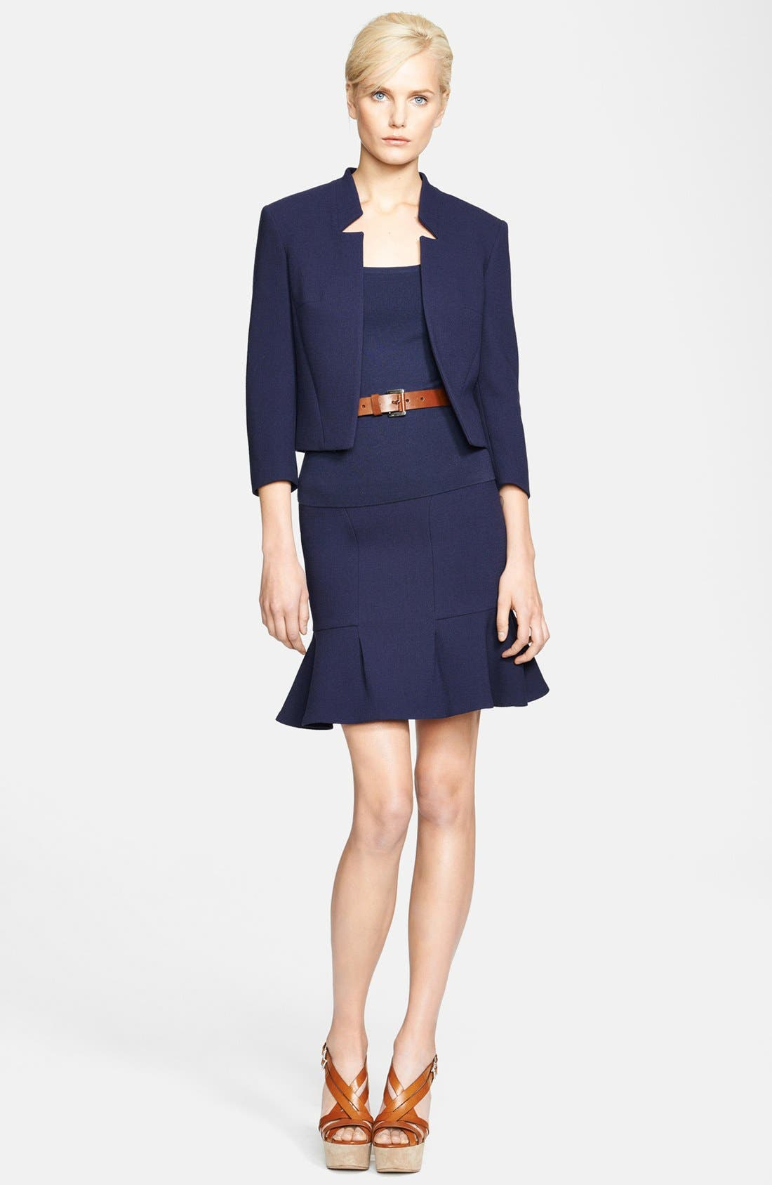 Alternate Image 4  - Michael Kors Bouclé Stretch Wool Jacket