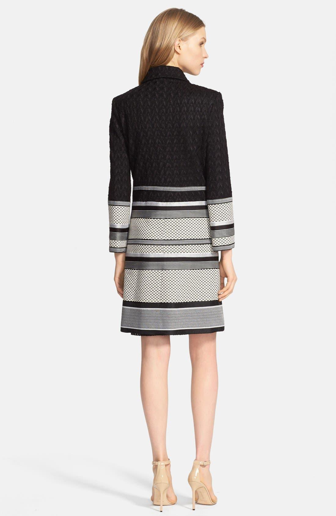 Alternate Image 2  - Missoni Long Intarsia Knit Jacquard Coat
