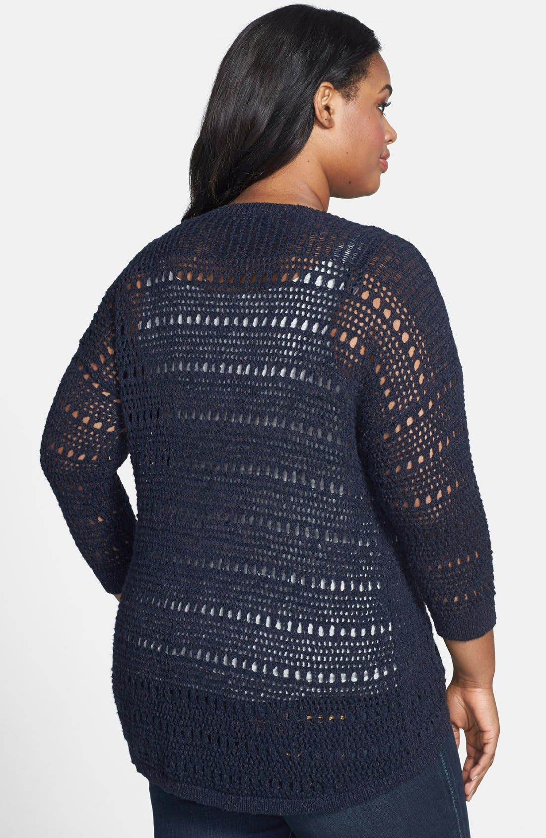 Alternate Image 2  - Lucky Brand 'Cardiff' Cardigan (Plus Size)