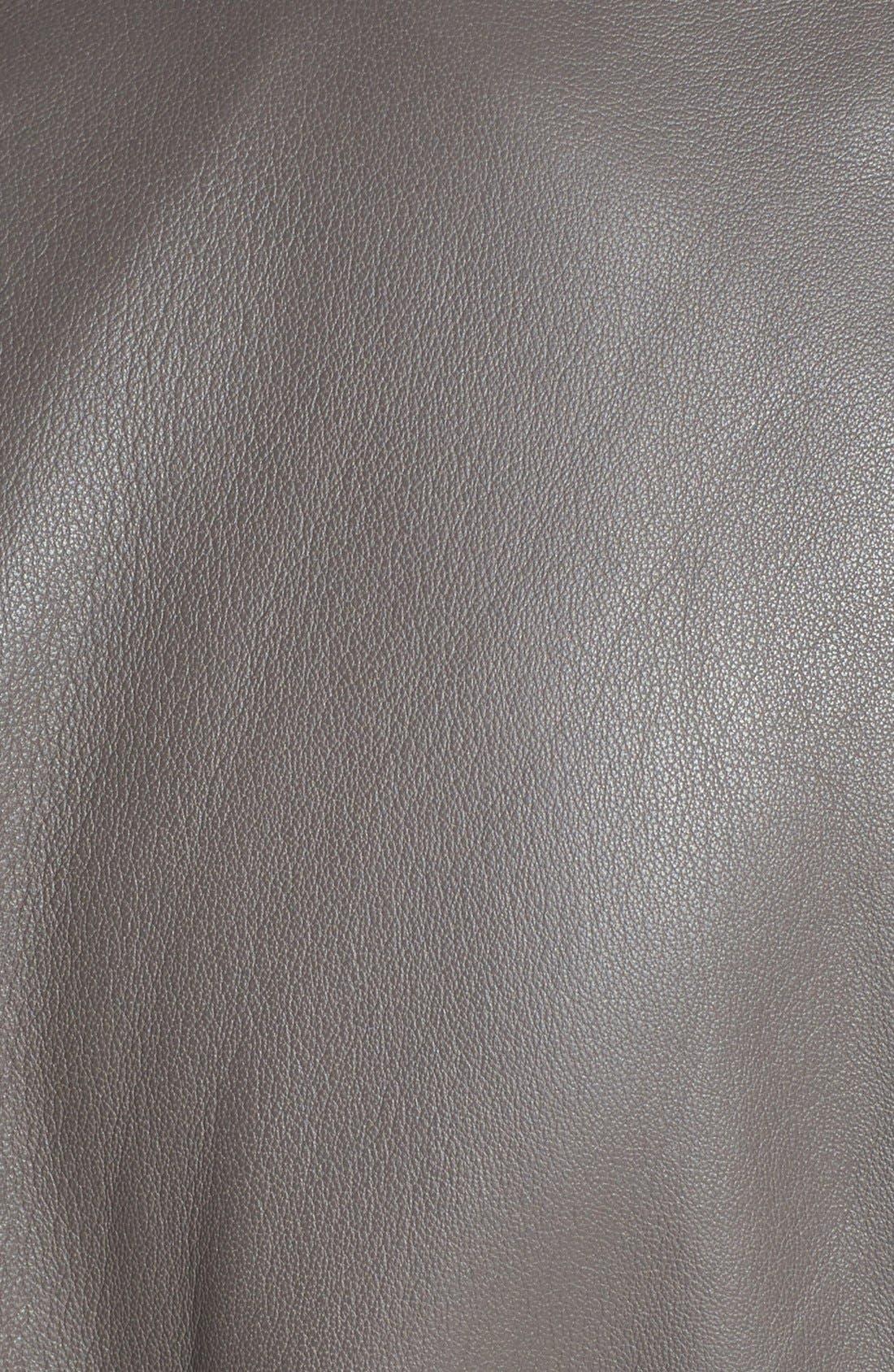 Alternate Image 3  - Trouvé Collarless Leather Jacket