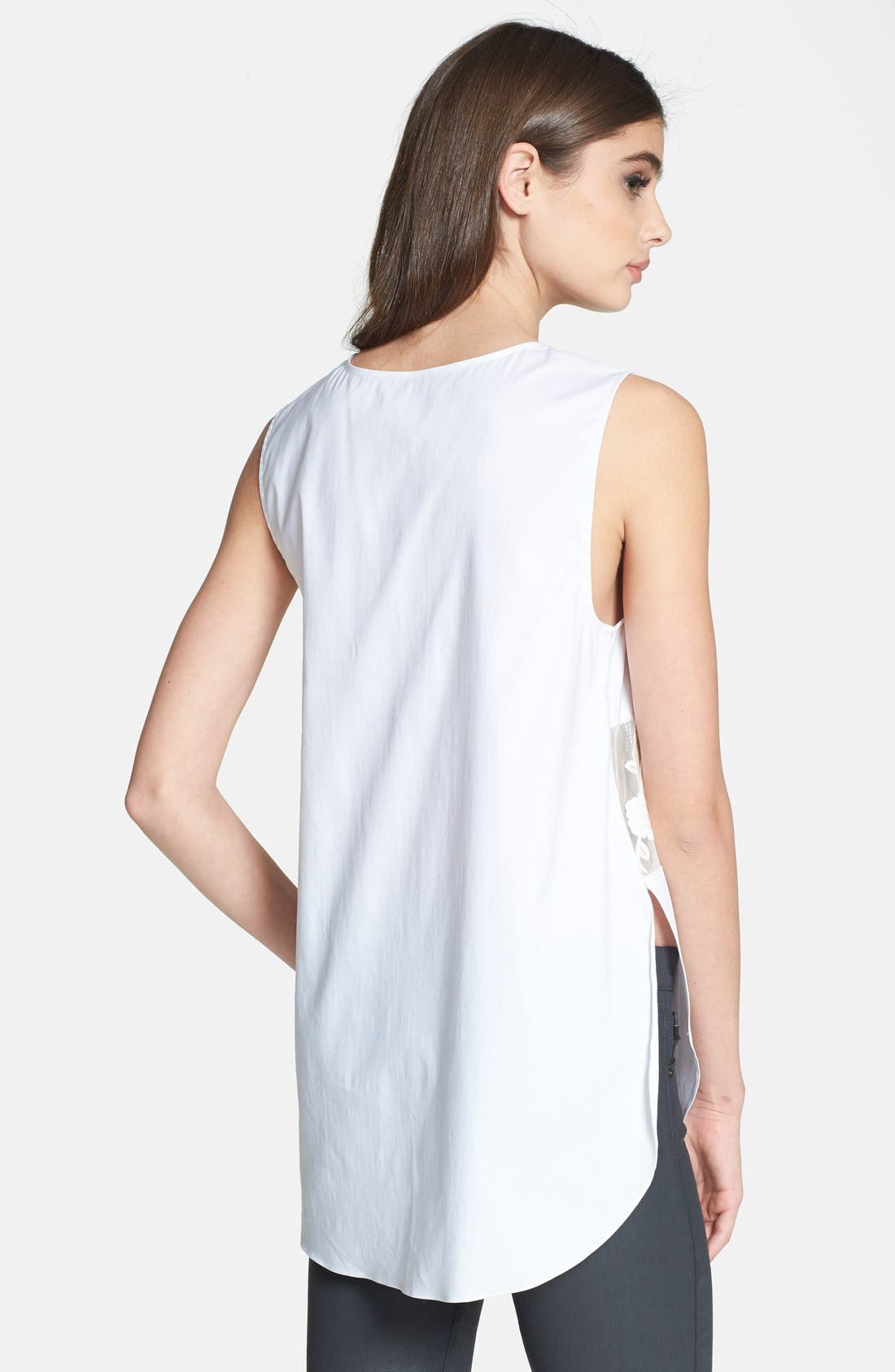 Alternate Image 2  - 1.STATE Sheer Inset Cotton Top