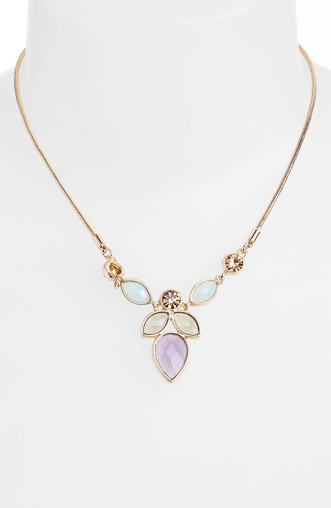 Alternate Image 2  - Anne Klein Multi Stone Pendant Necklace