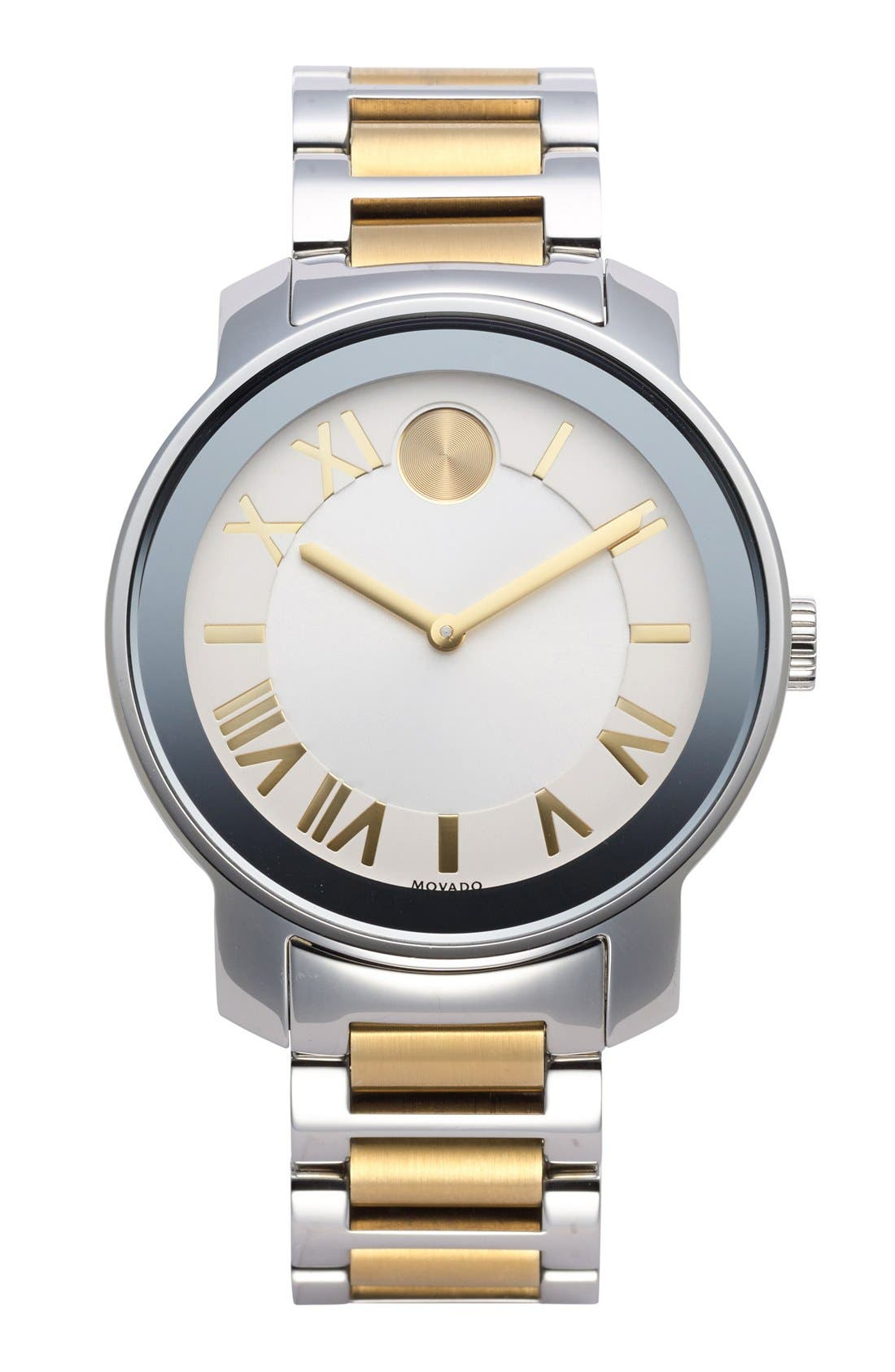 Alternate Image 1 Selected - Movado 'Bold' Two-Tone Round Bracelet Watch, 39mm