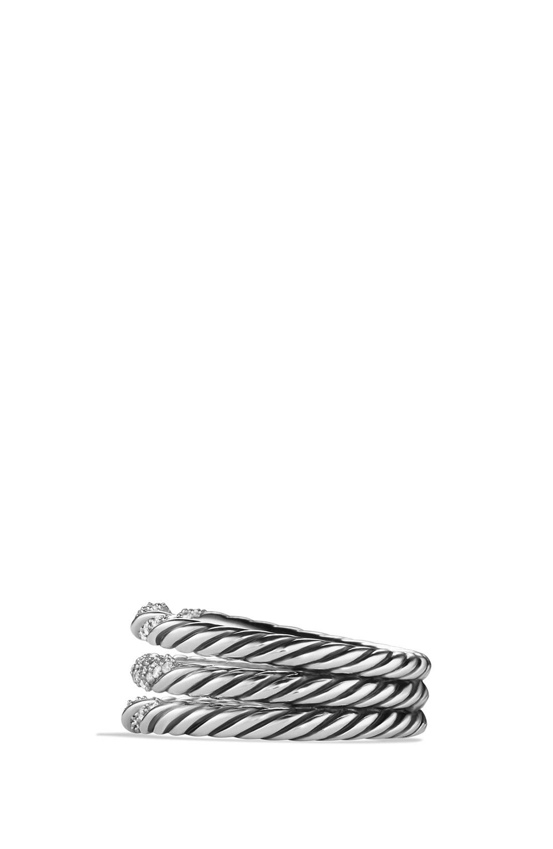 Alternate Image 2  - David Yurman 'Willow' Three-Row Ring with Diamonds