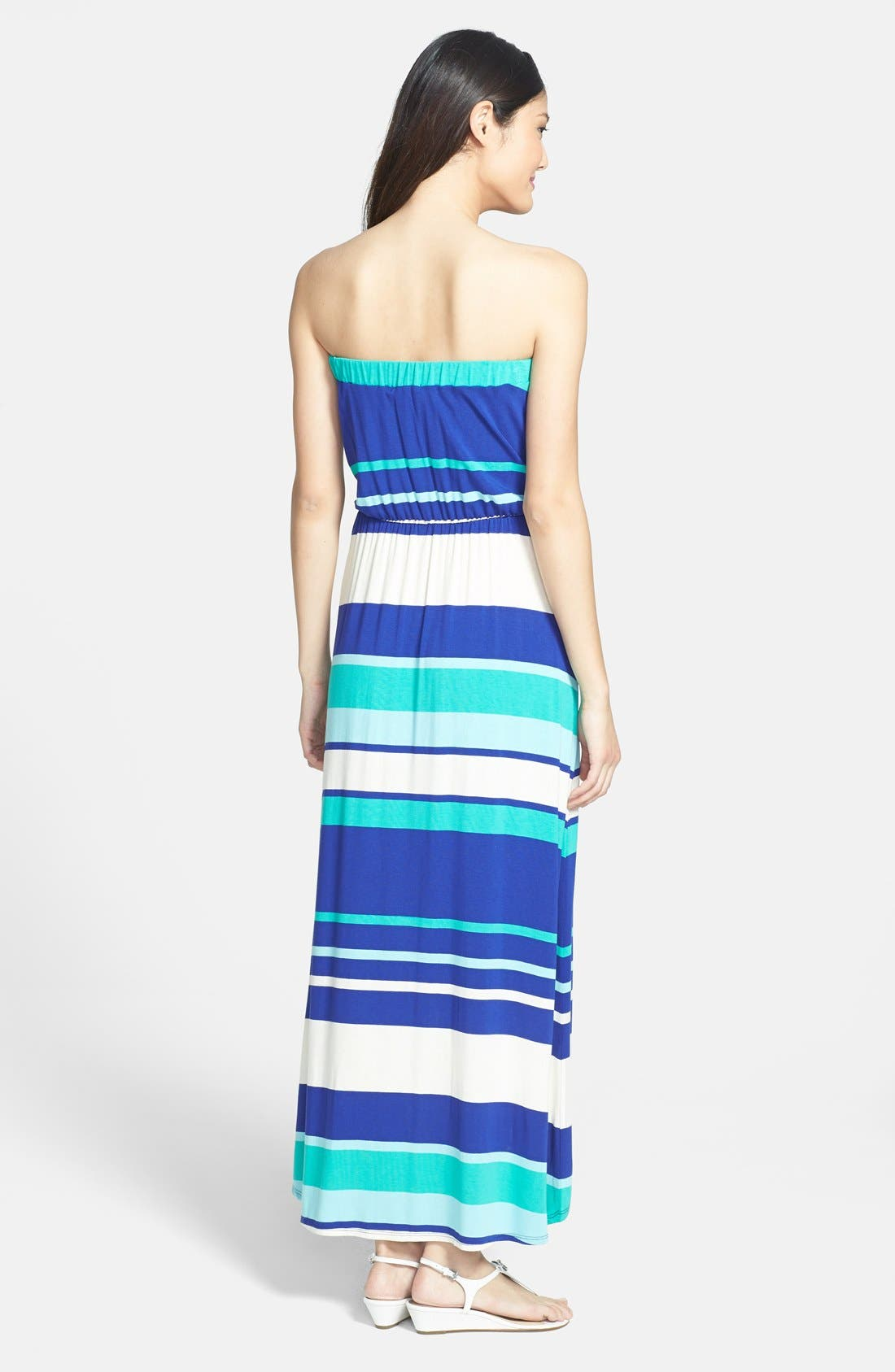 Alternate Image 2  - LAmade Stripe Strapless Maxi Dress