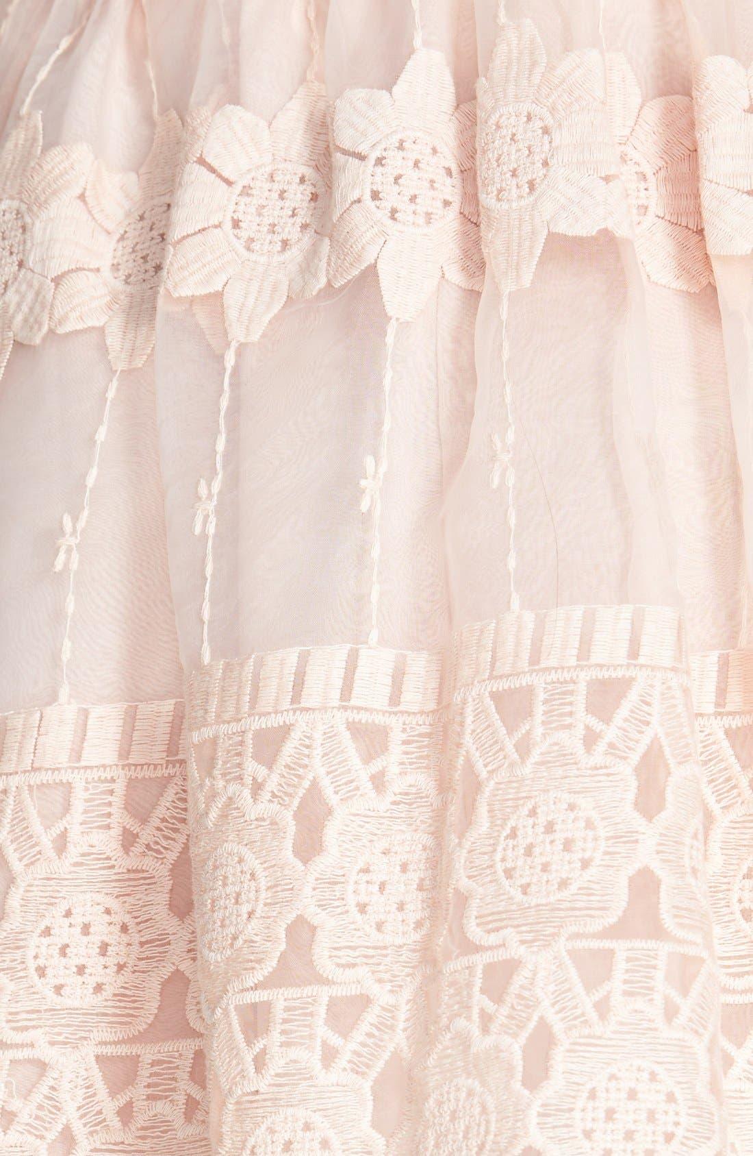 Alternate Image 3  - ASTR Embroidered Organza Skirt