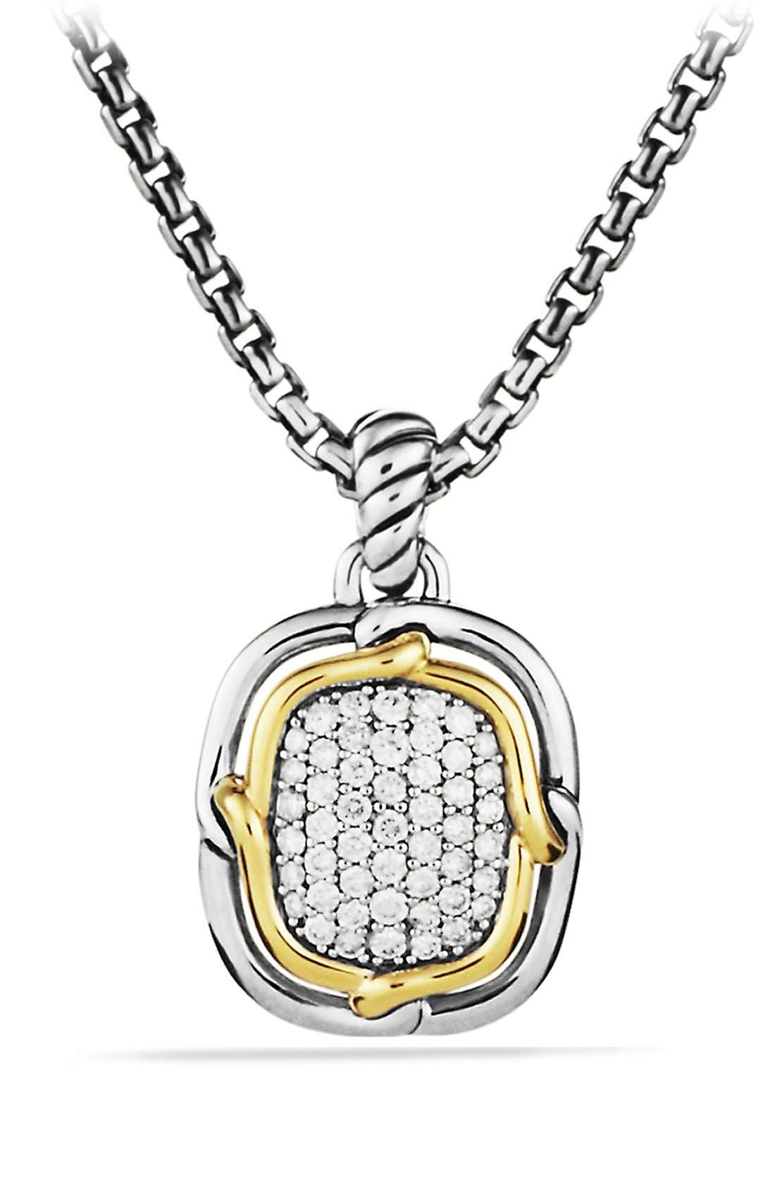 Alternate Image 1 Selected - David Yurman 'Labyrinth' Pendant with Diamonds and Gold